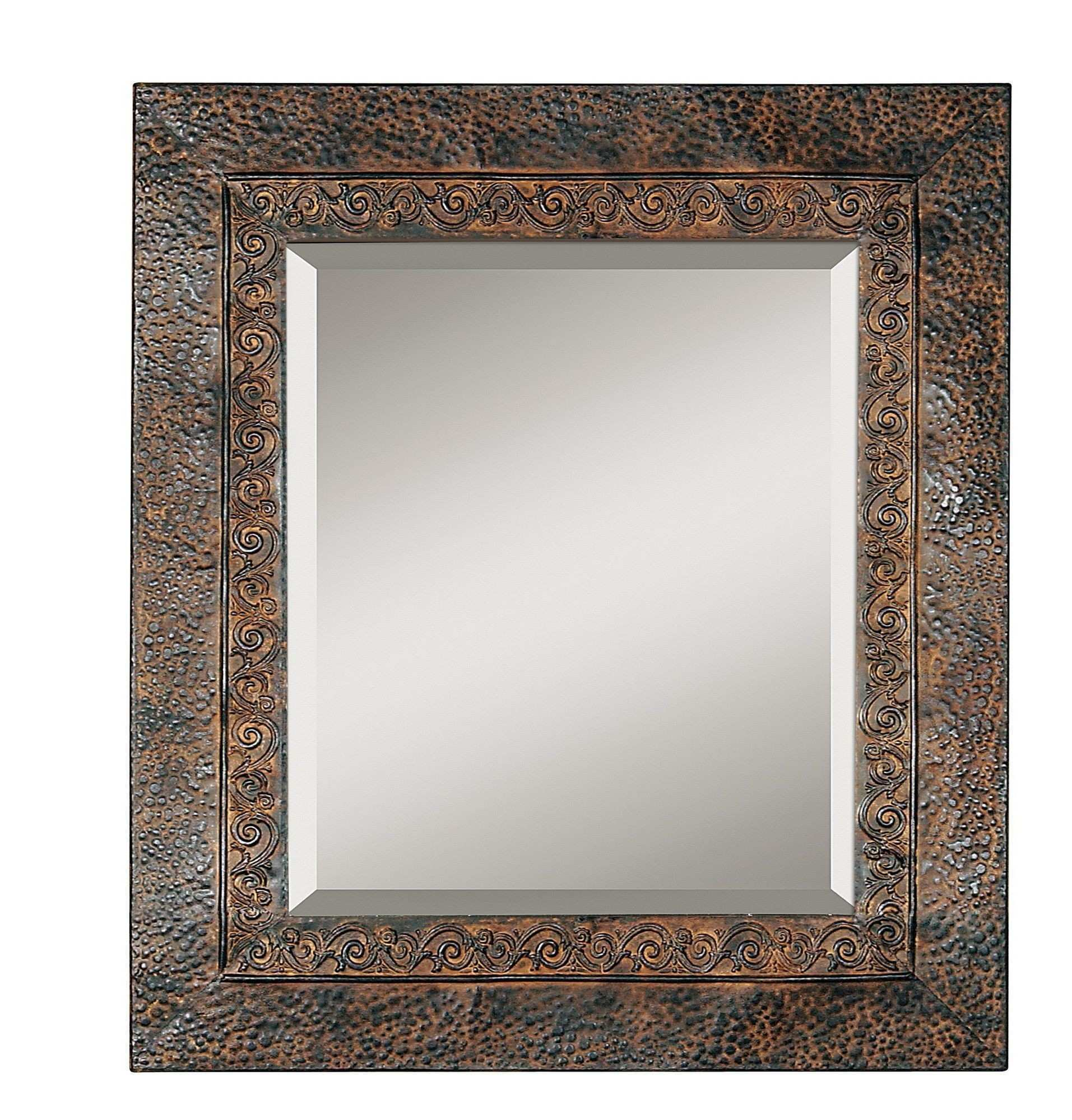 Rustic Square Metal Frame Mirror Jpg C h Home Design