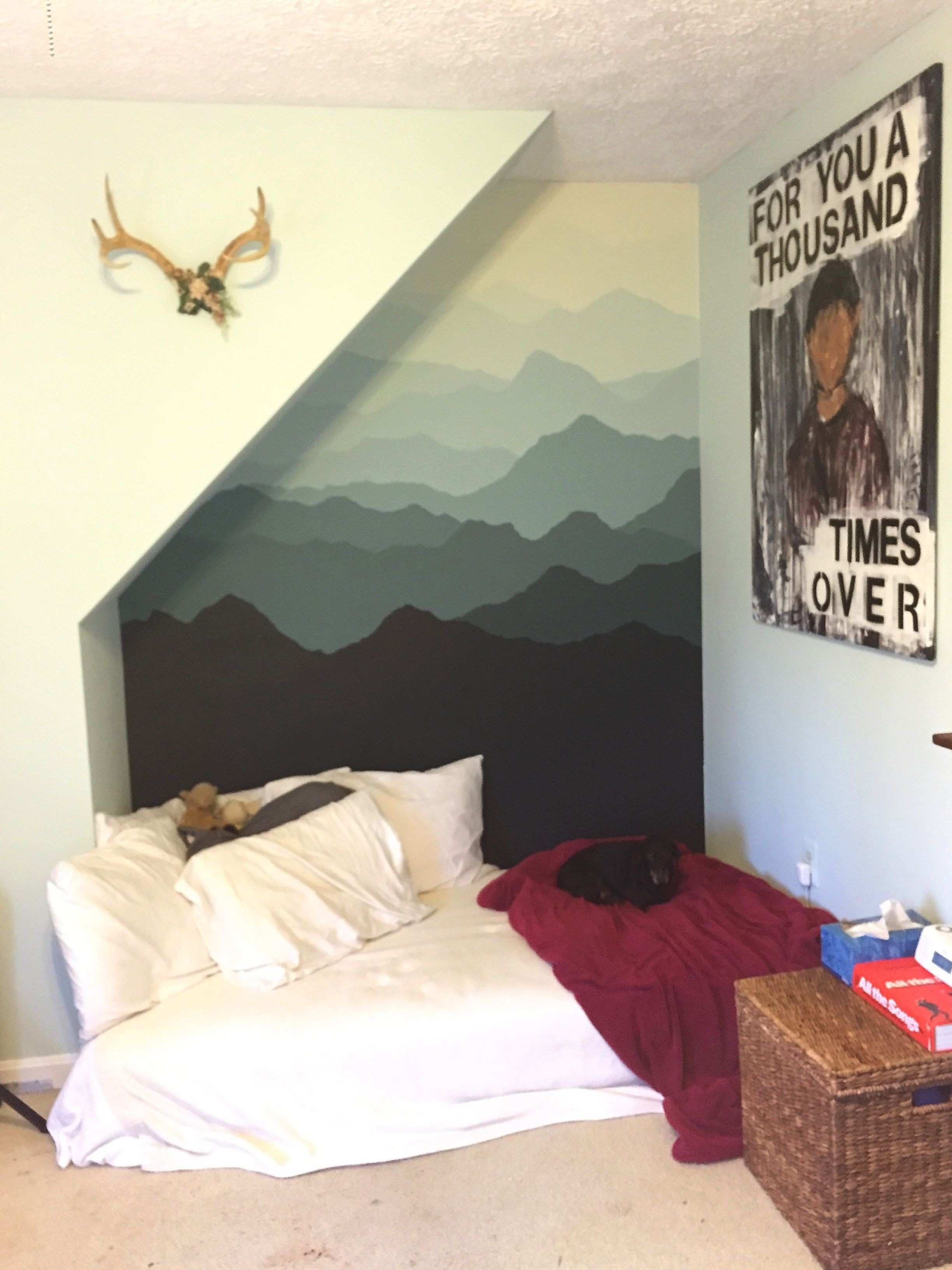 mountain mural inspired by Pam s project found at