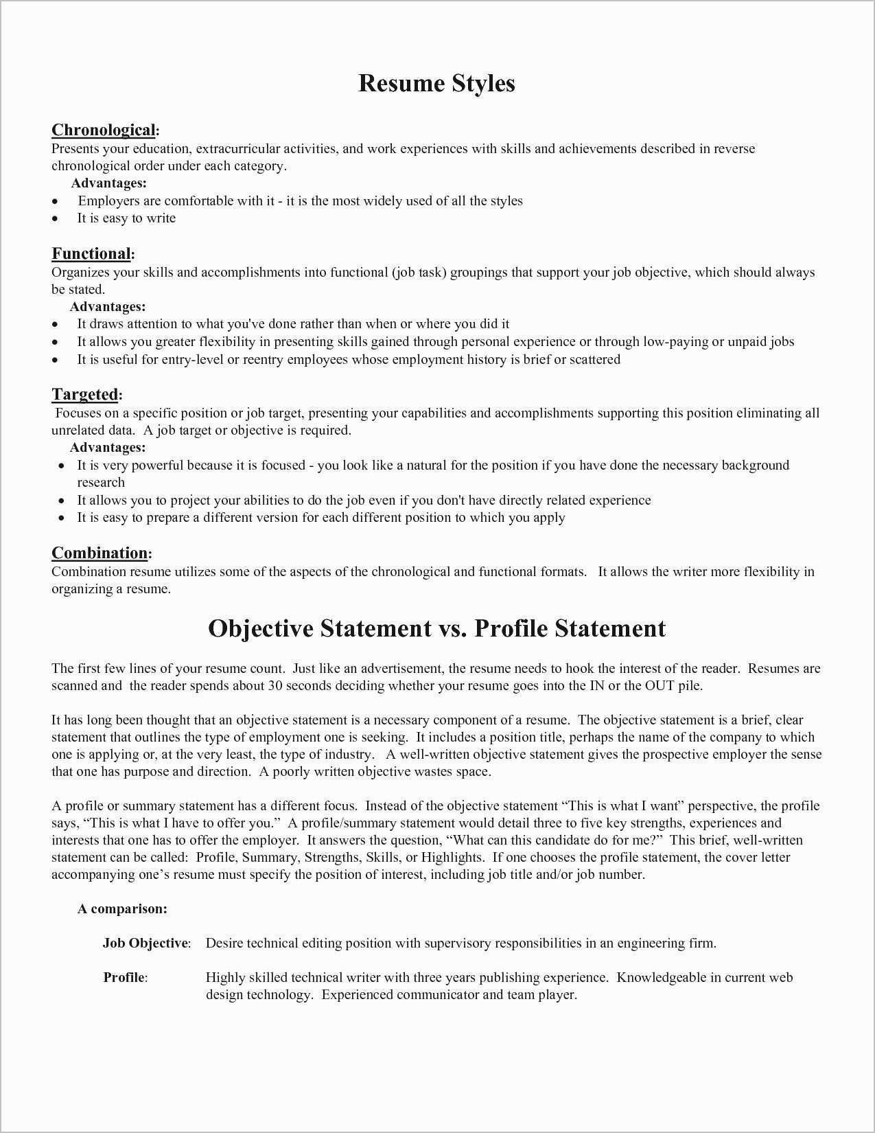 Section A Resume Fix My Resume Best Fresh Skills for A Resume