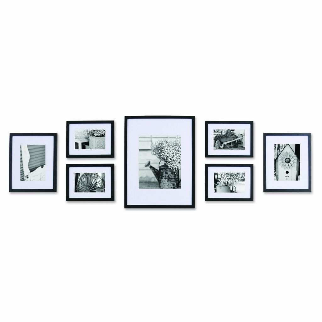 Picture Wall Gallery Frame Set Awesome Amazonsmile Pinnacle 11fw1443 Black 7 Piece solid Wood Wall Frame