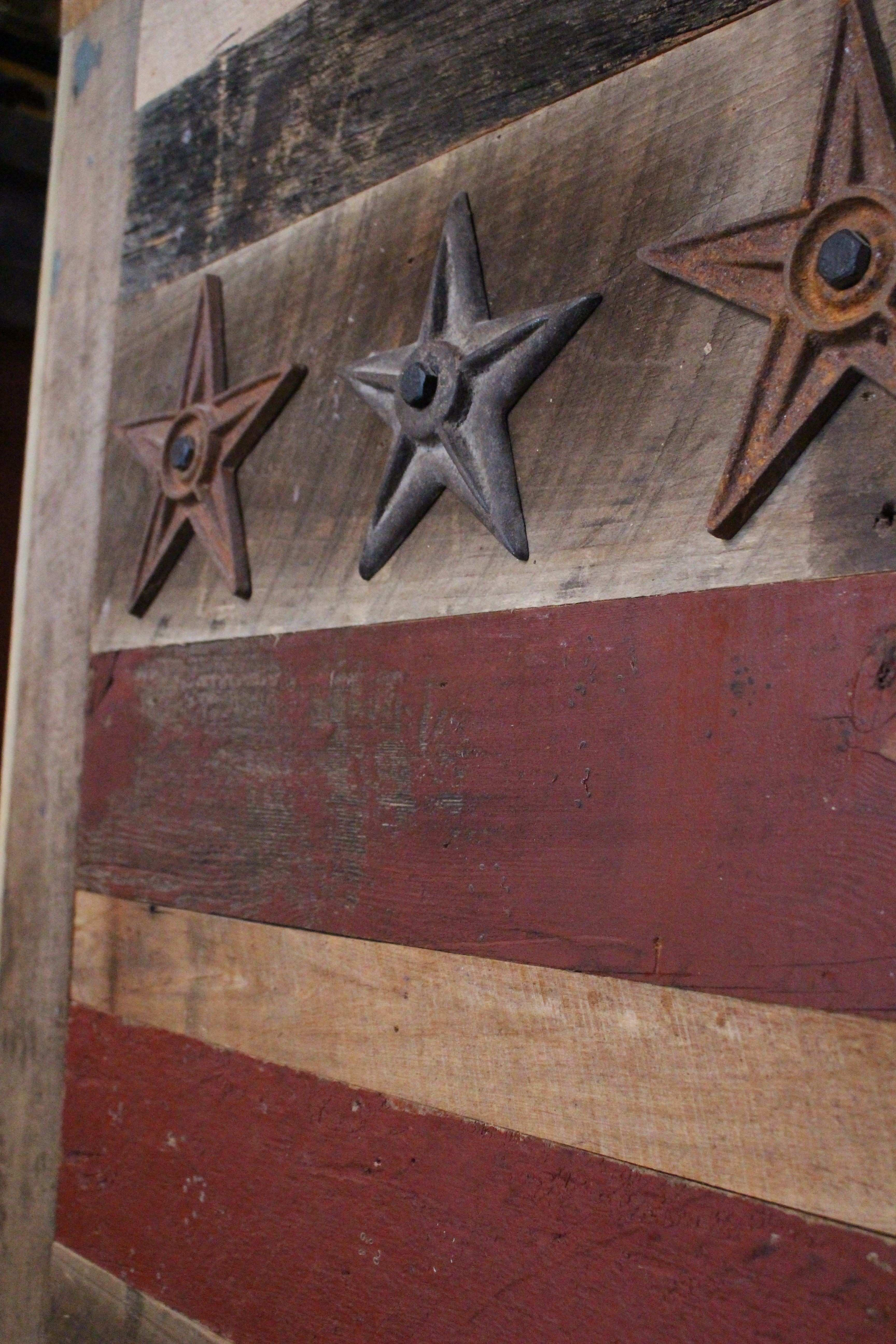 District of Columbia flag made from our barn board Available at