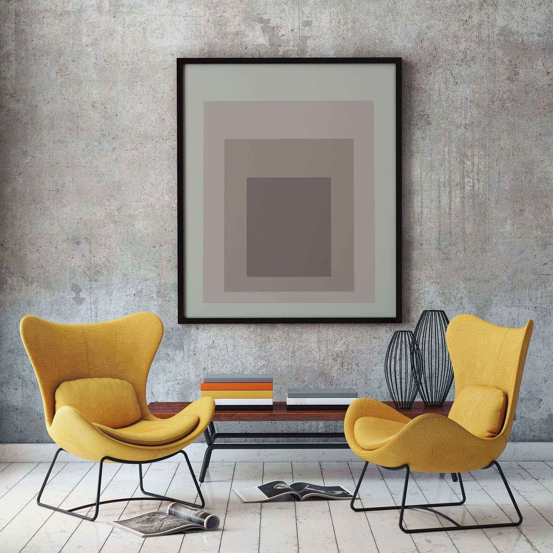 Gray Abstract Poster Grey Abstract Poster Square Posters Square