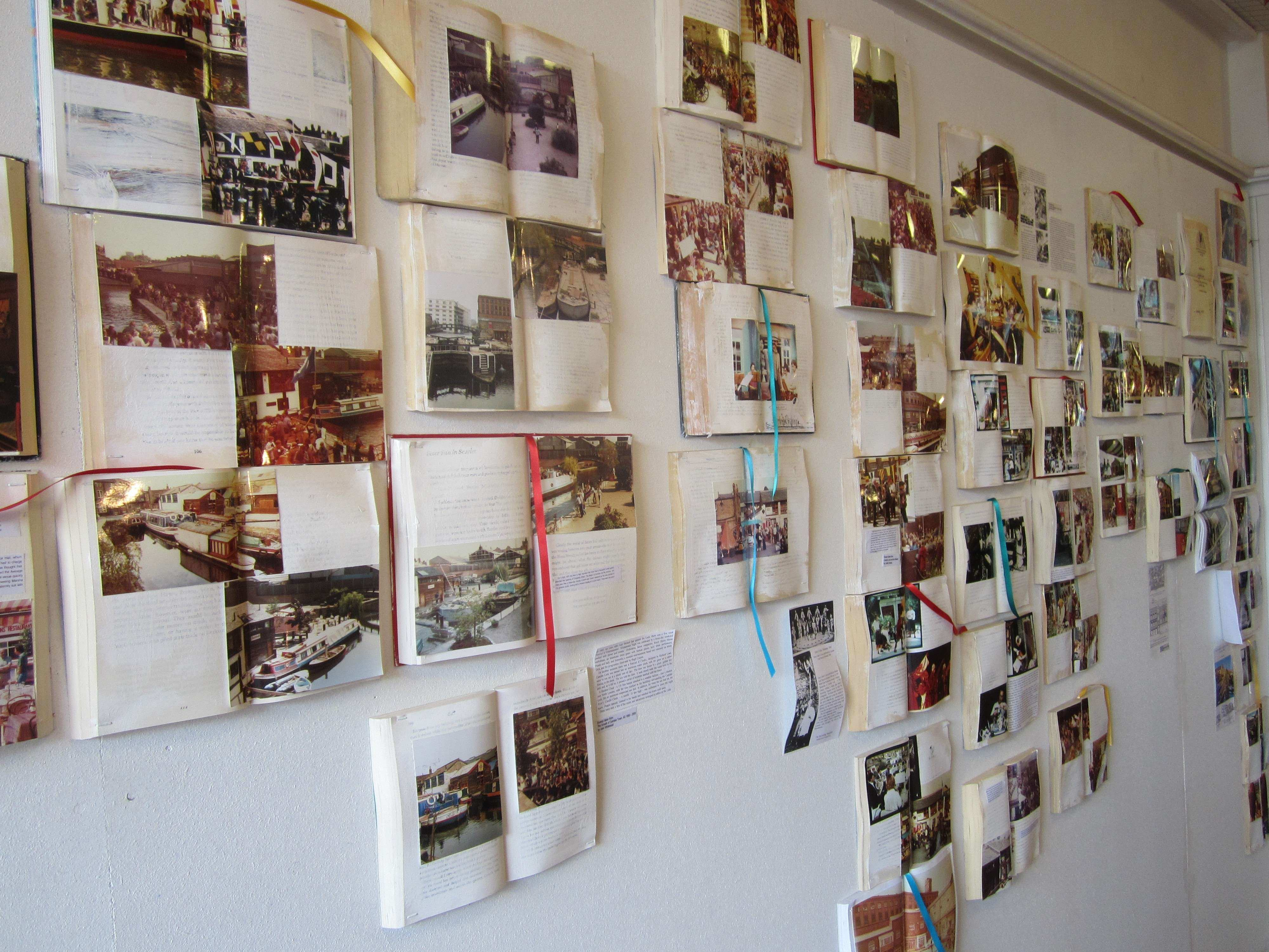 pictures on wall without frames