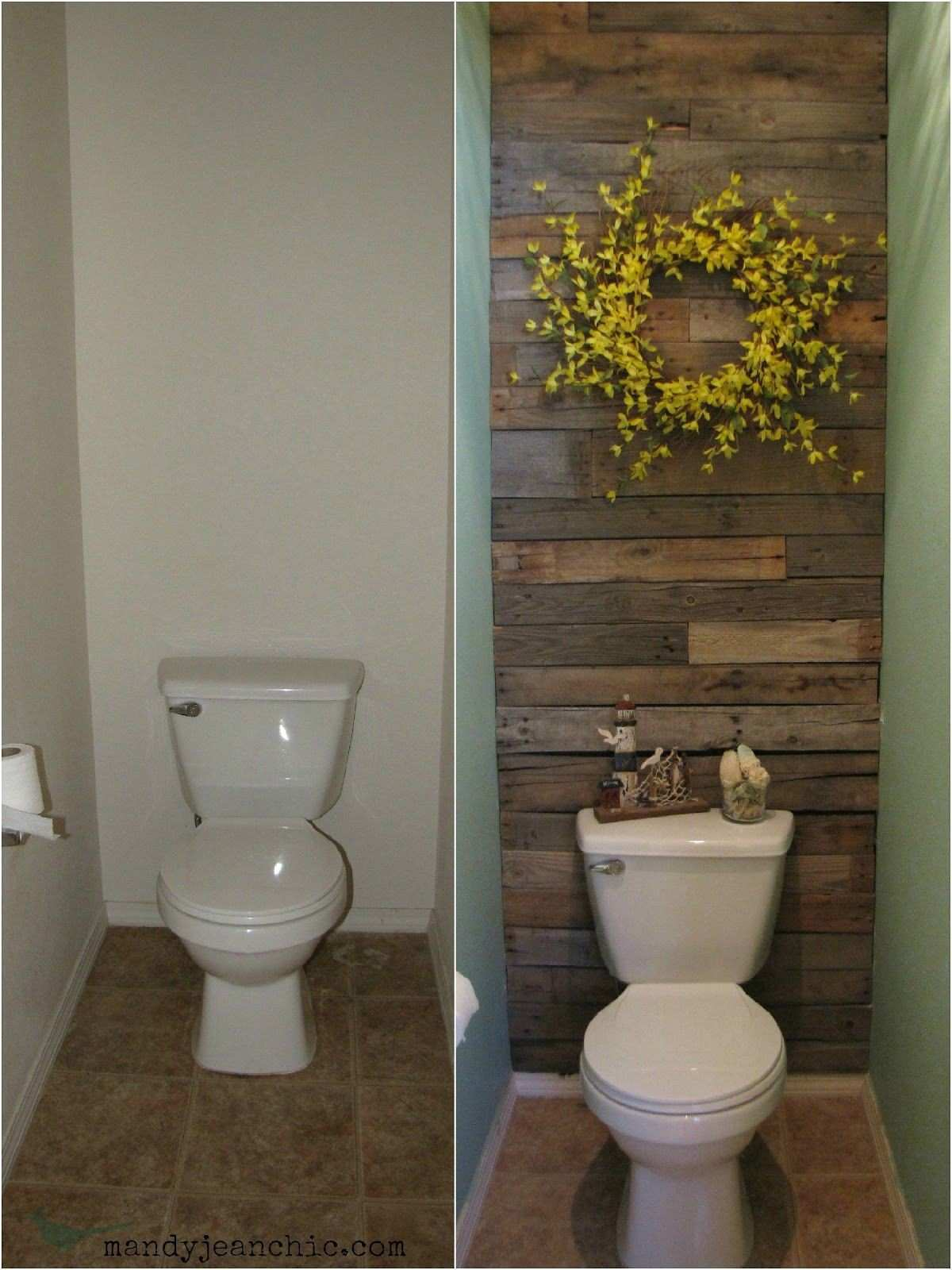 Great project FREE Toilet Room Makeover using pallet wood and