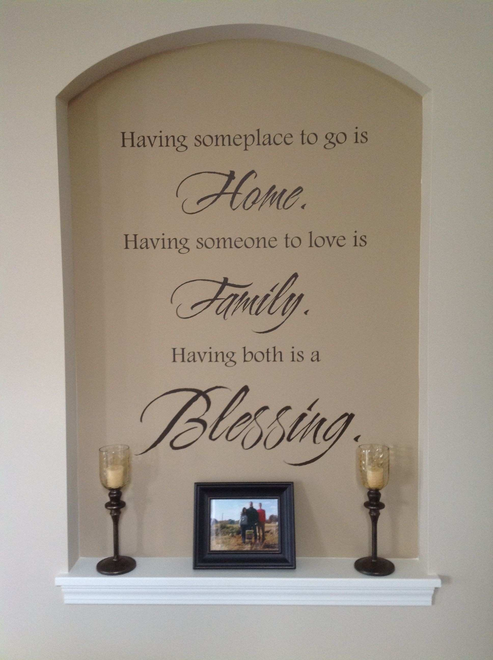 Love our niche wall quote from wallwritten candles from Pier