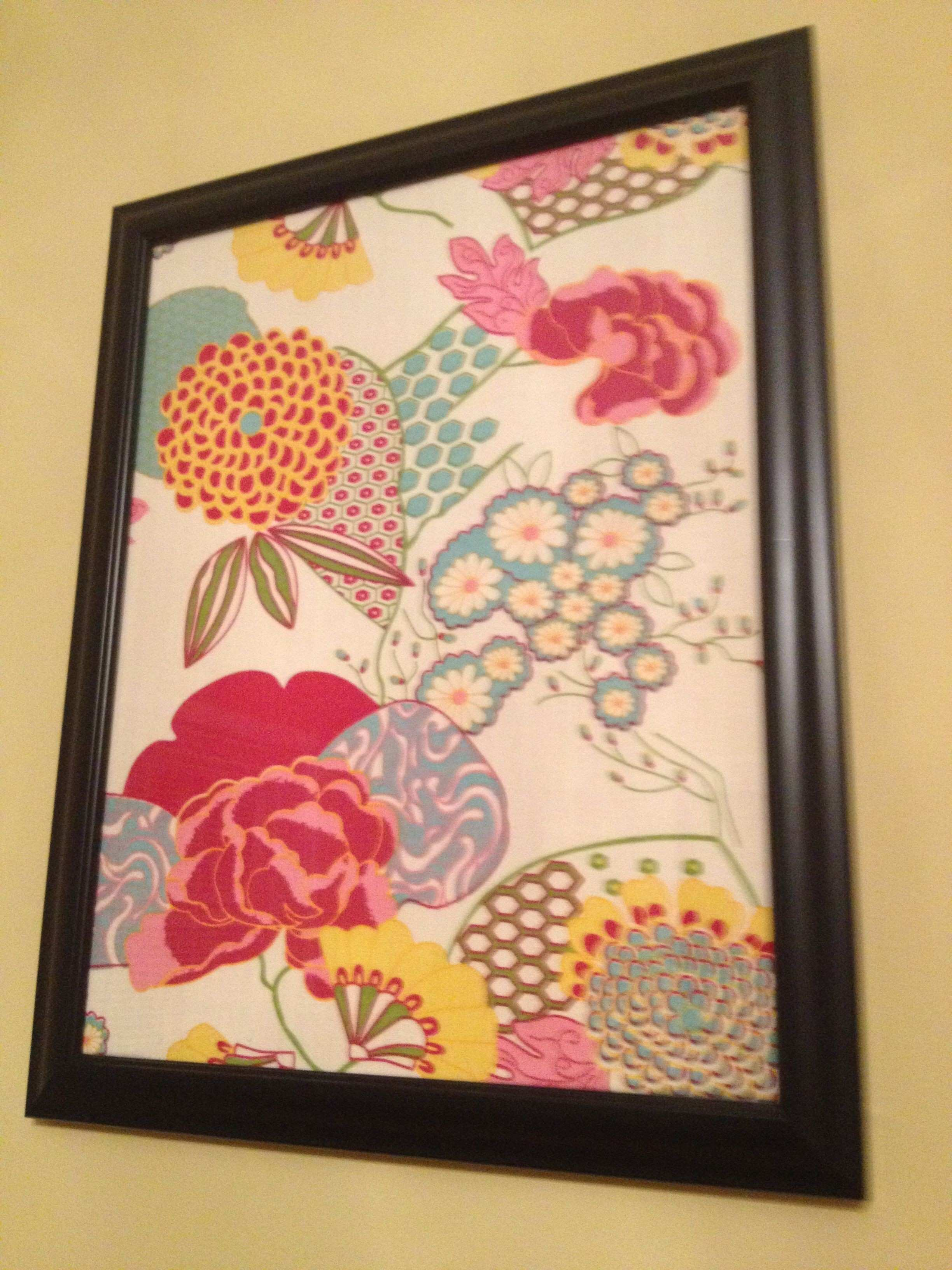 Framed placemats make for cheap wall art I got these placemats at