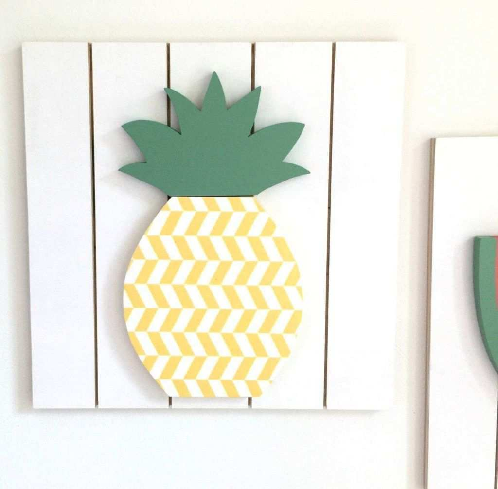 Pineapple Wall Art Wood Elegant Magnificent Metal and Wood Wall ...