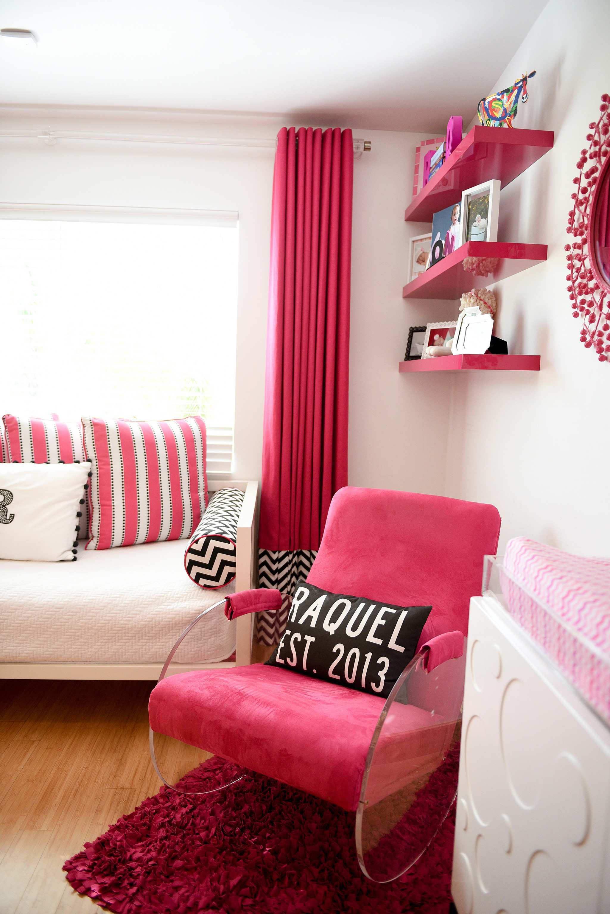 Modern Hot Pink and White Nursery Project Nursery