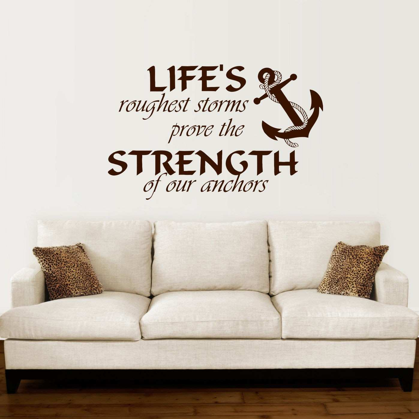 Anchor Wall Decal Quotes Nautical Sayings Wall Vinyl Sticker Bedroom