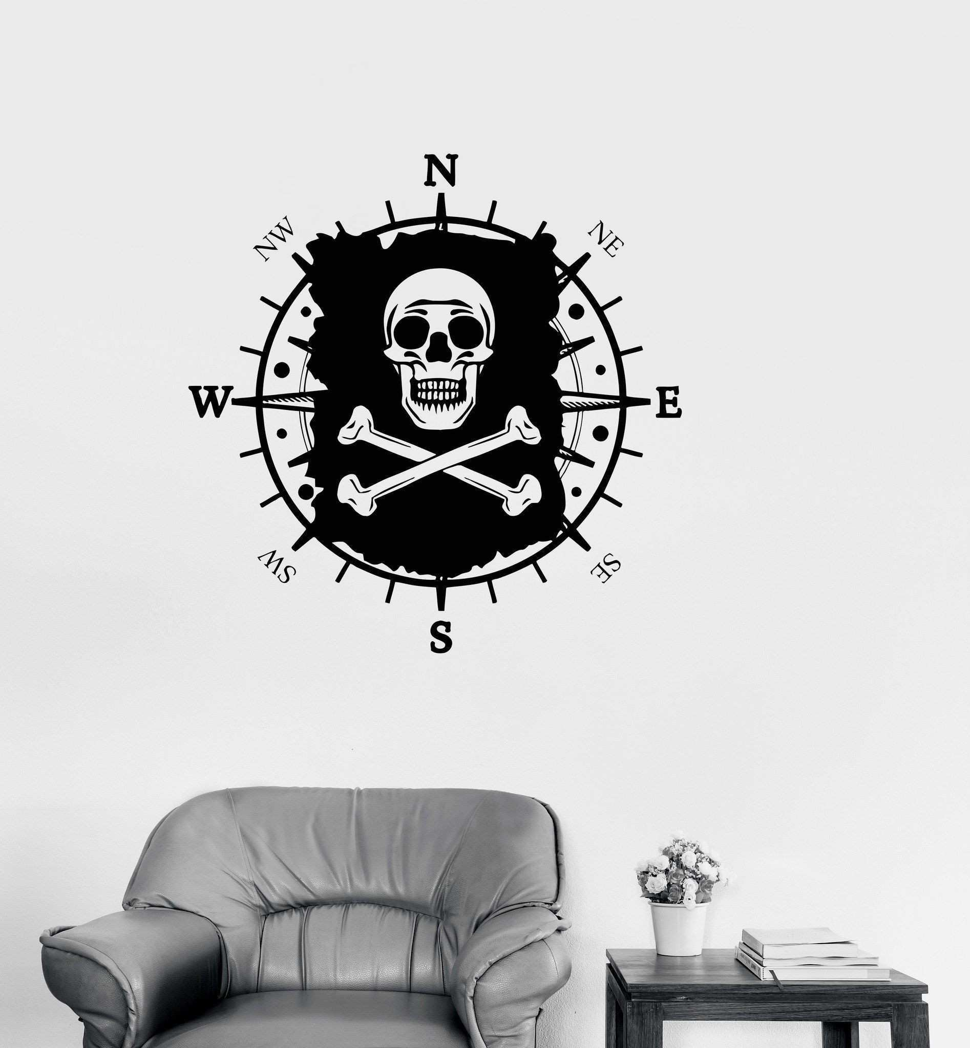 Awesome Nautical Map Wall Decal
