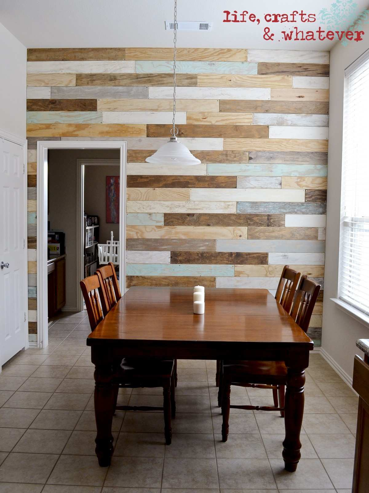 Life Crafts & Whatever My plank wall finally