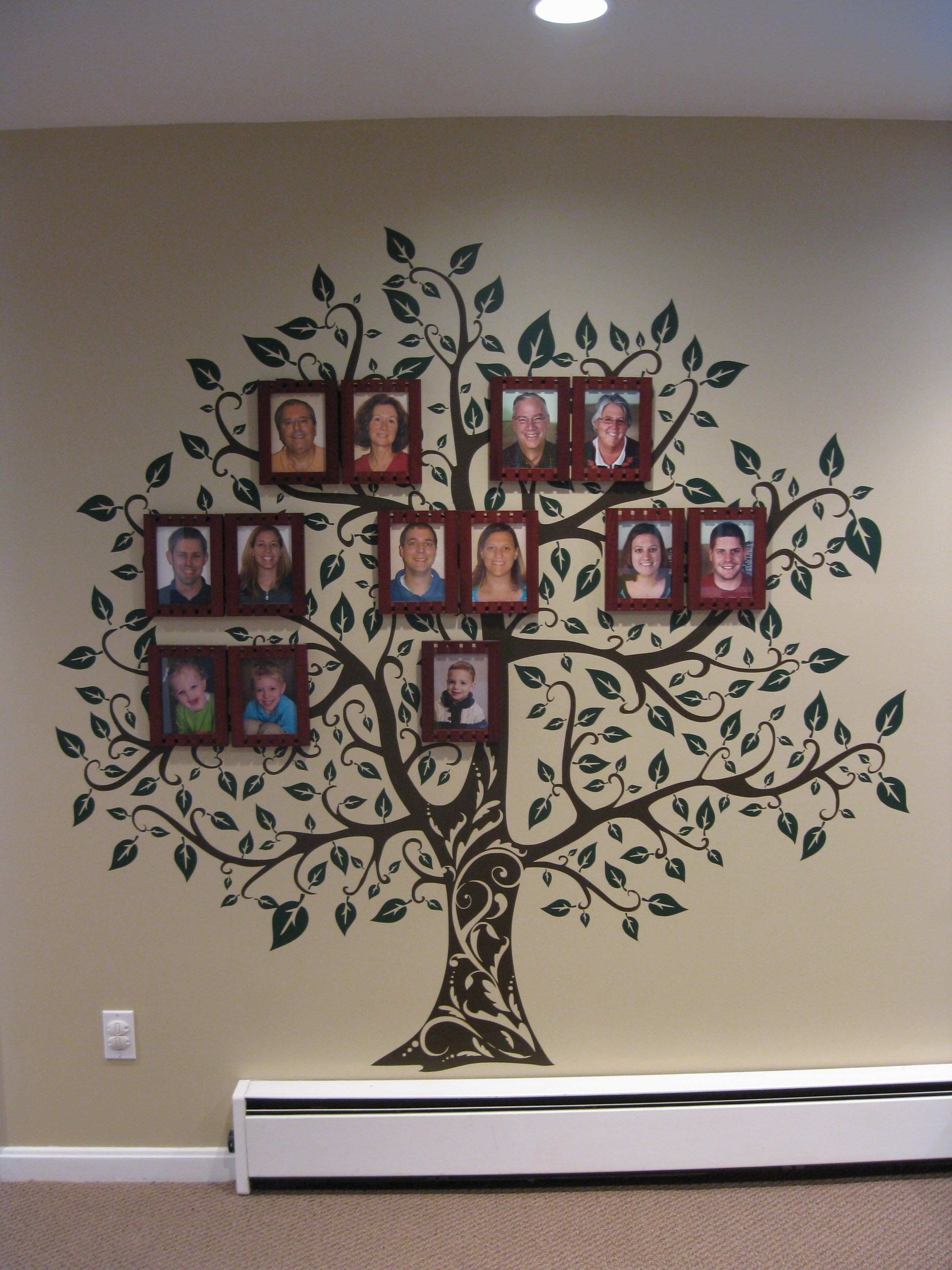 "Family tree wall in our playroom Tree decal from Etsy ""Decor"