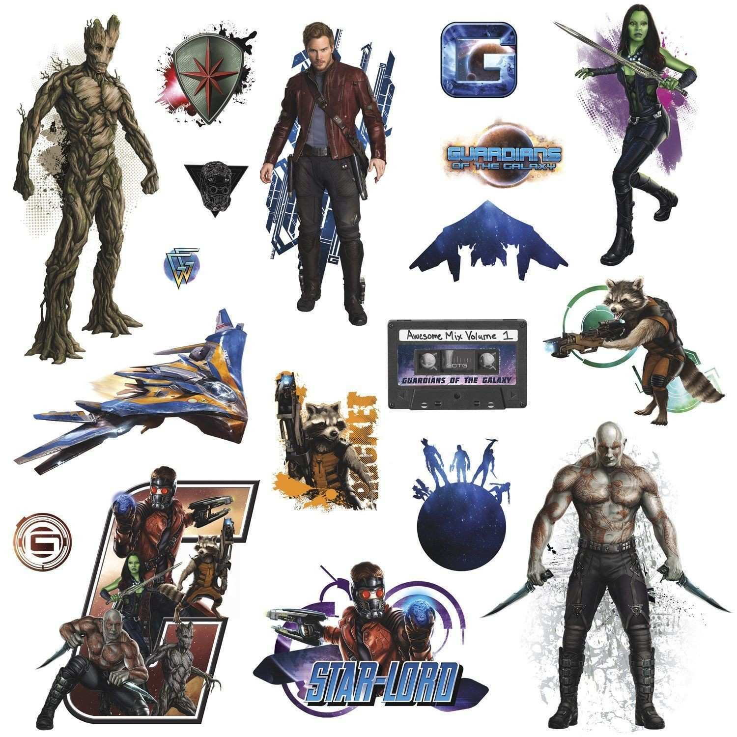 Guardians of the Galaxy Wall Decals