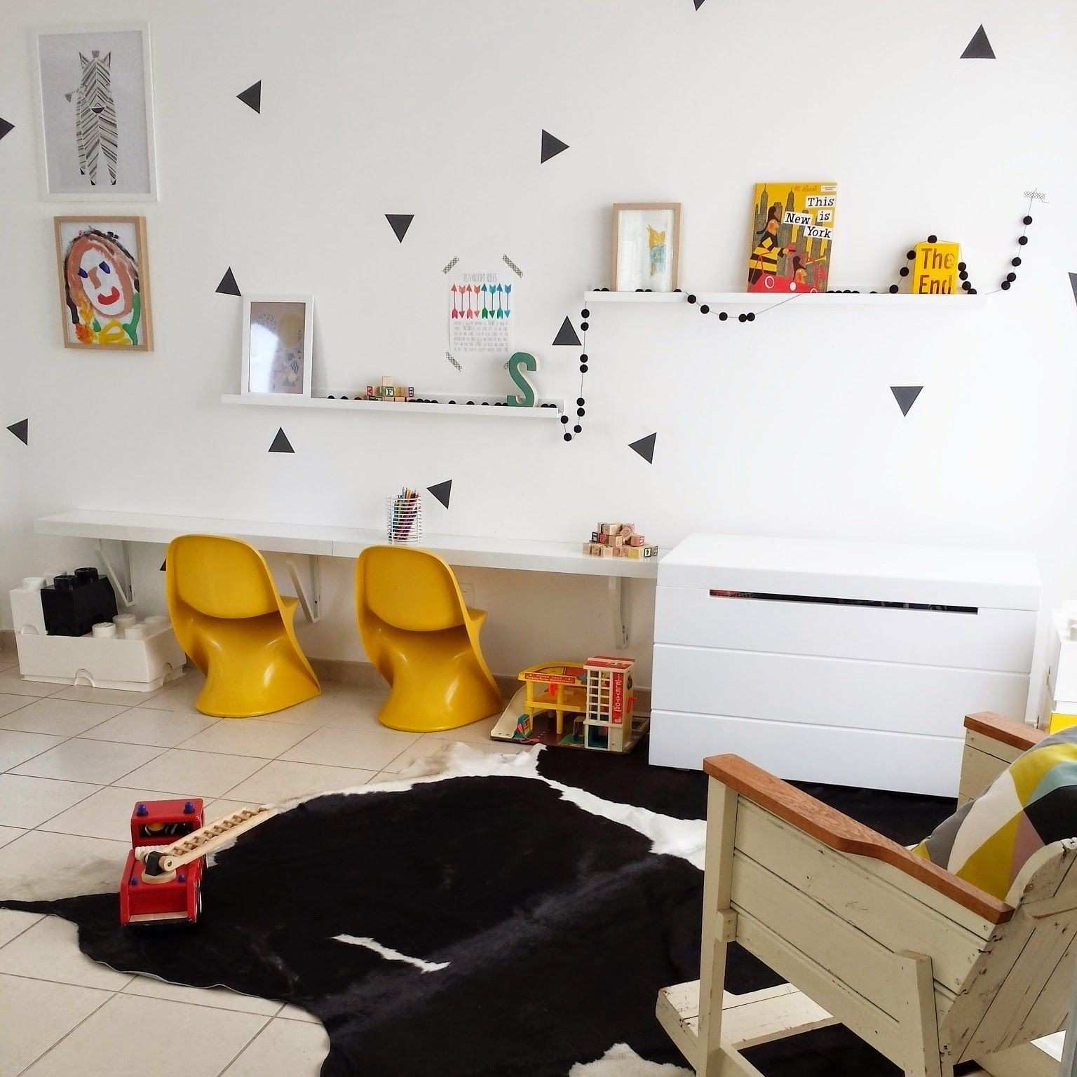 Triangle wall decal kids wall decal casalino