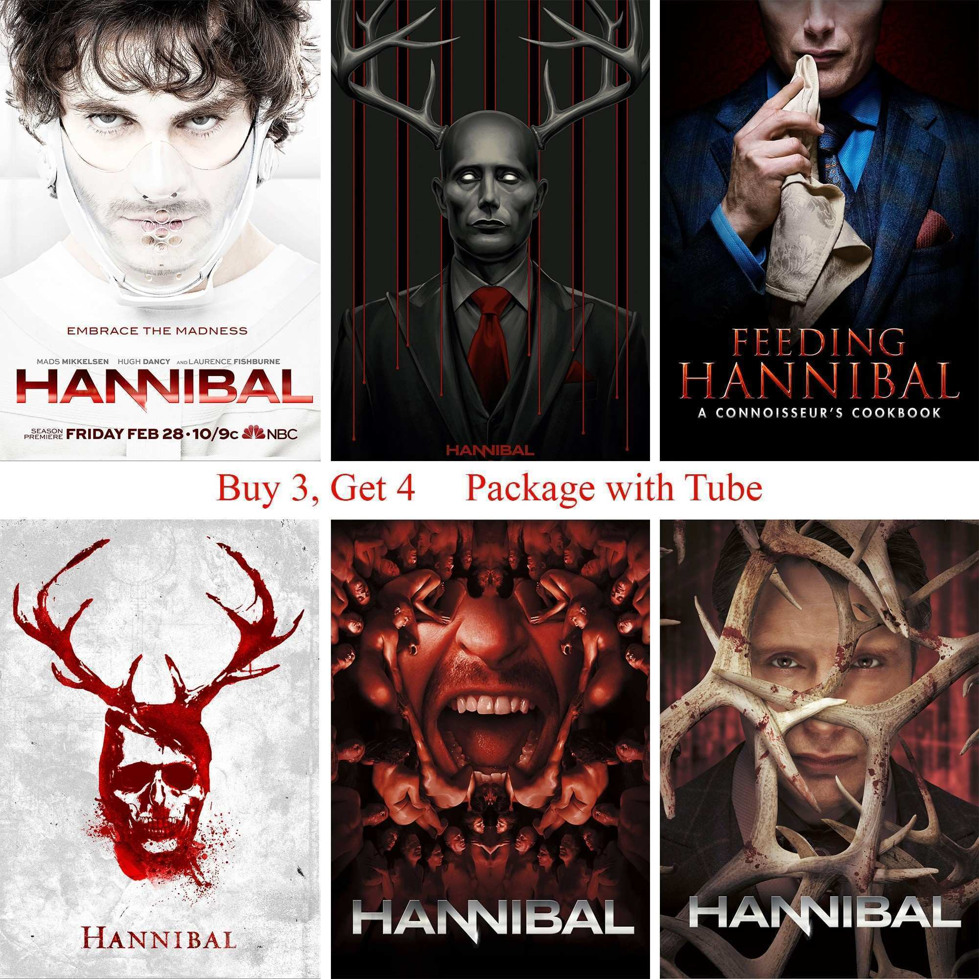 Hannibal Posters Movie Wall Stickers White Coated Paper Prints High
