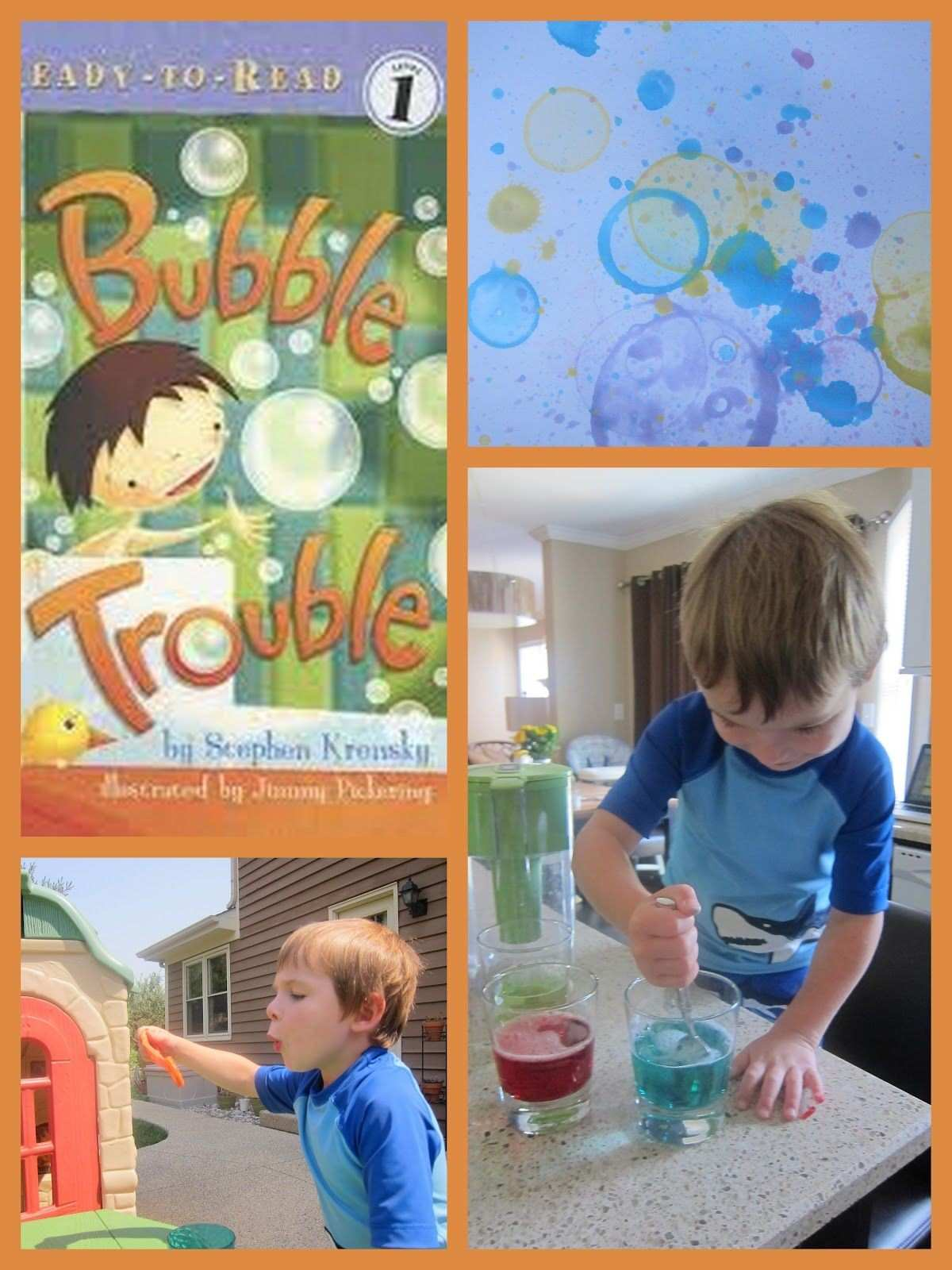 Adventures in Reading With Kids Bubble Art