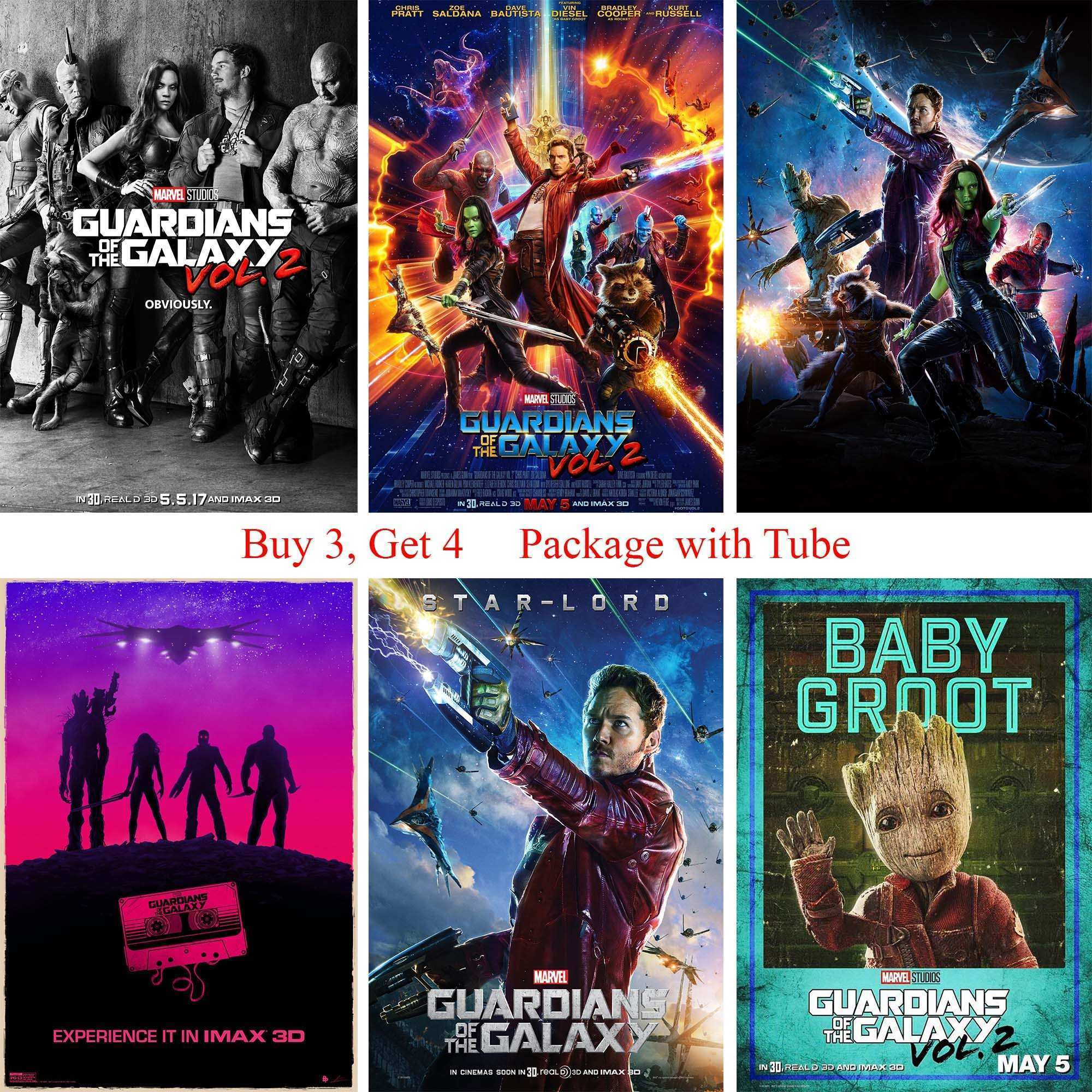 Guardians of the Galaxy Posters Wall Stickers White Coated Paper