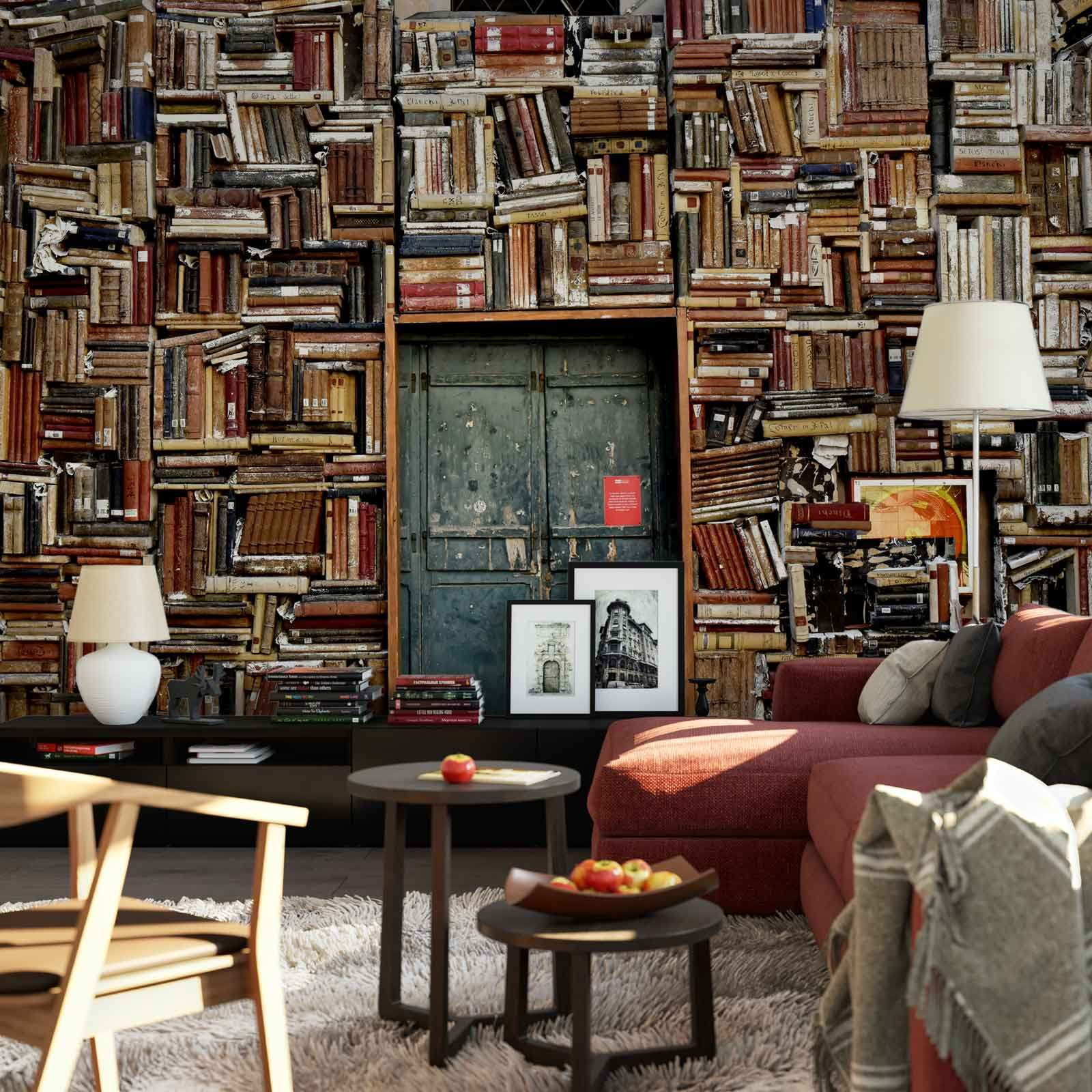 Details about WALL MURAL PHOTO WALLPAPER XXL Books Pile Library Wall Bookshelf Door JD 1093WS
