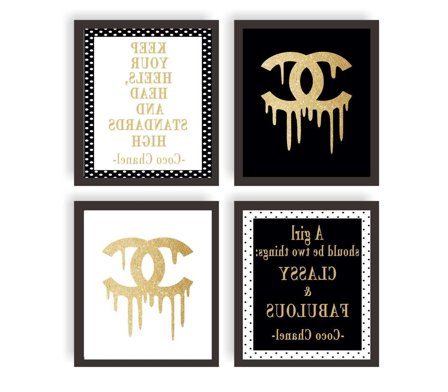 Original Classy And Fabulous Coco Chanel Quote Typography Print 20