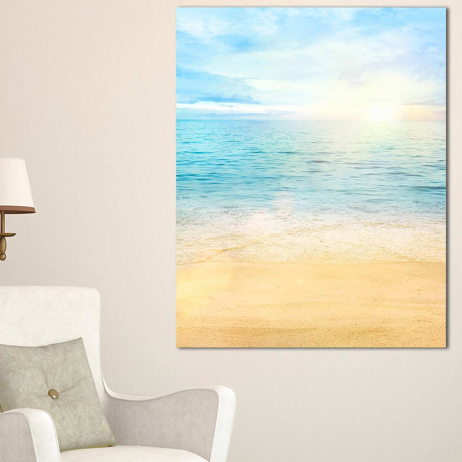 Prints for Gallery Wall Lovely Beach Canvas Painting Luxury Metal ...