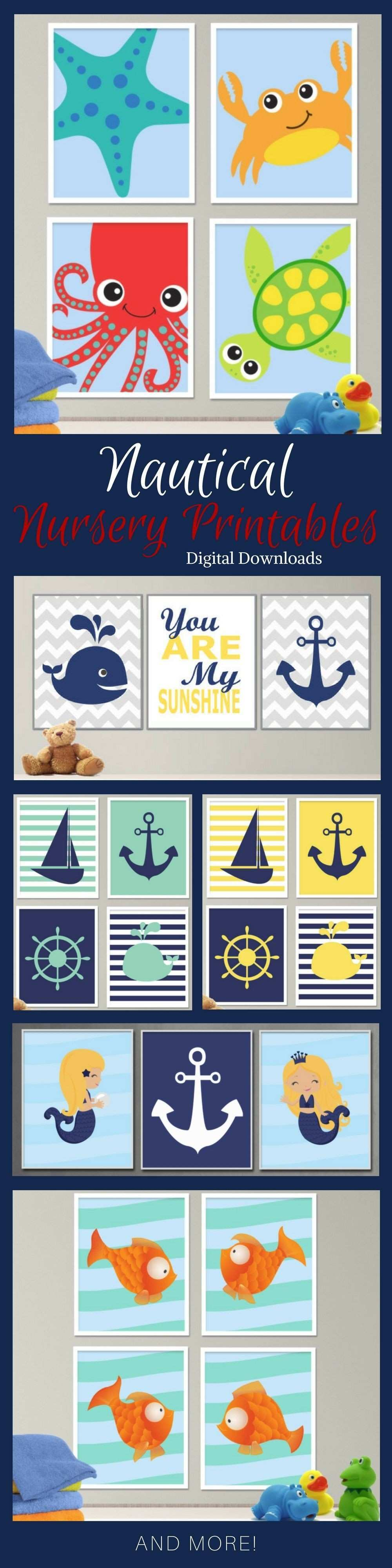 Instant Art for nursery walls Printable art sets for baby s room