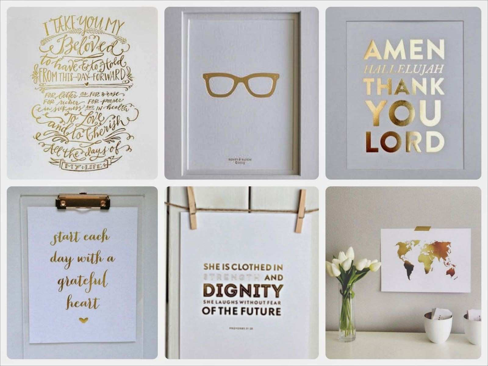 Prints for Office Walls Lovely the Vision Of Style Gold Foil Wall Prints