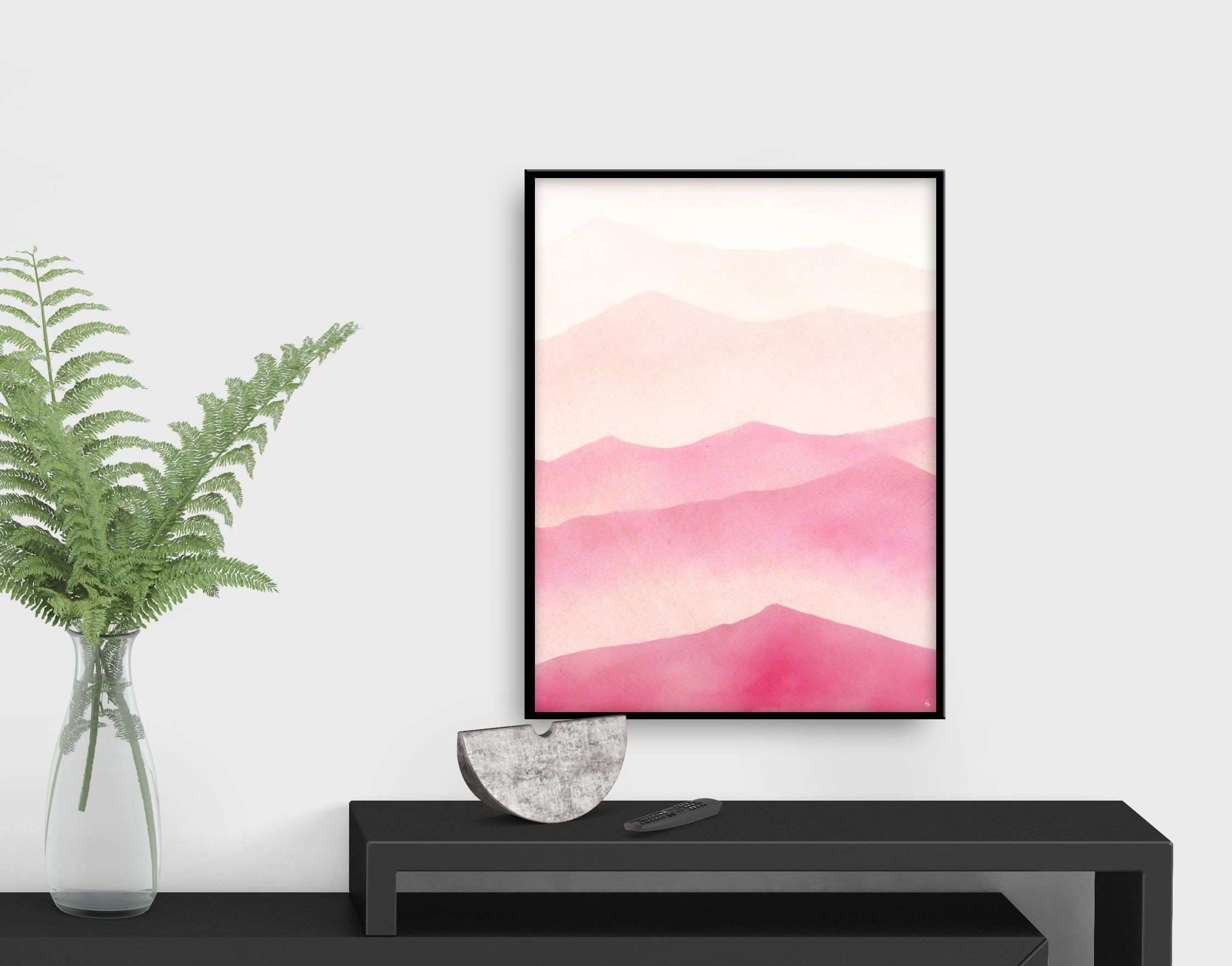 Breath new life into your decor Modern pink abstract by FraBorArt