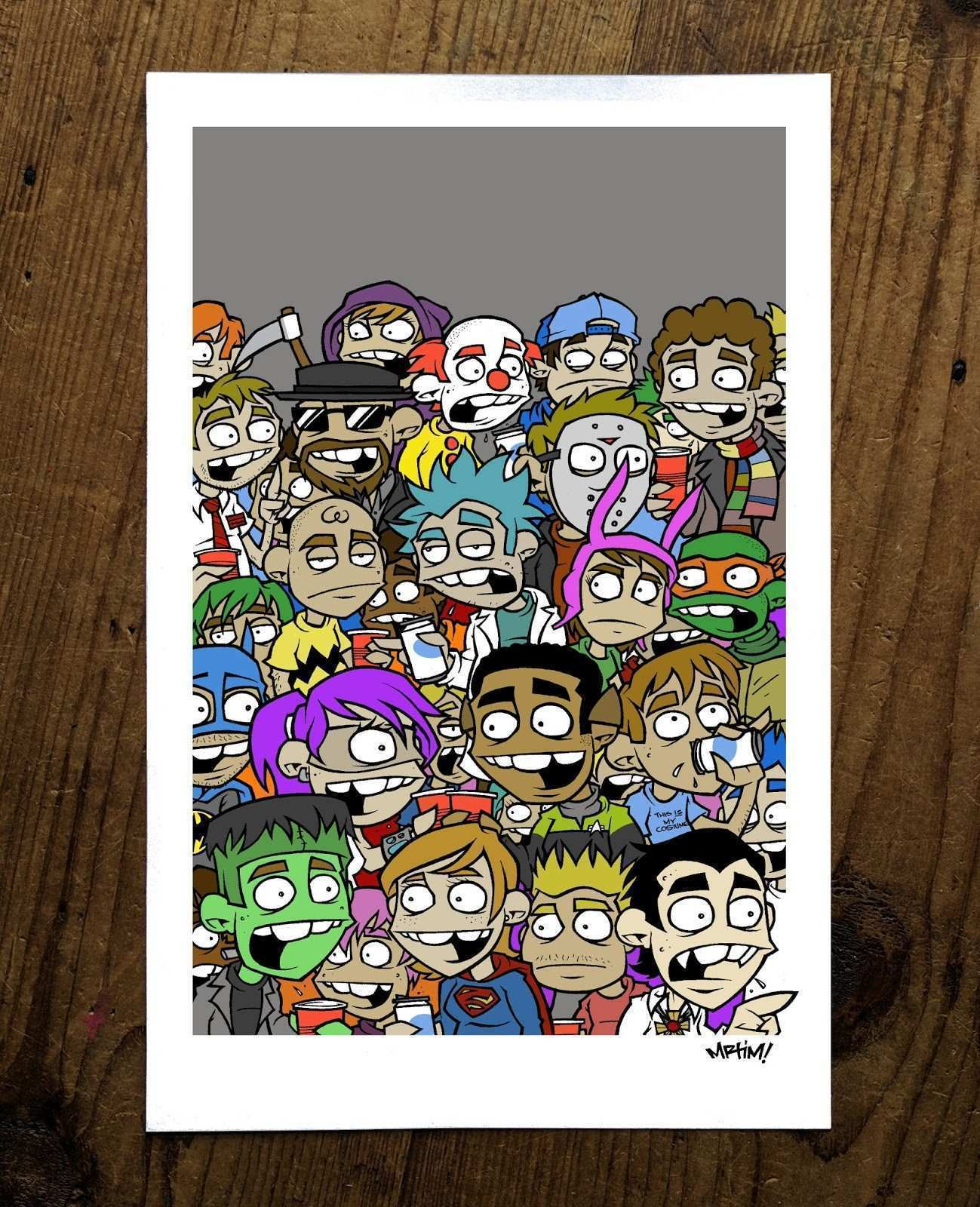 OUR VALUED CUSTOMERS HALLOWEEN PARTY PRINT $15