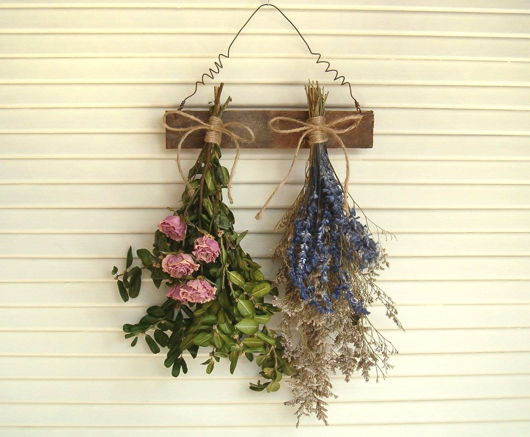 Lilac Wall Decor Elegant Dried Flower Rack Dried Roses Farmhouse