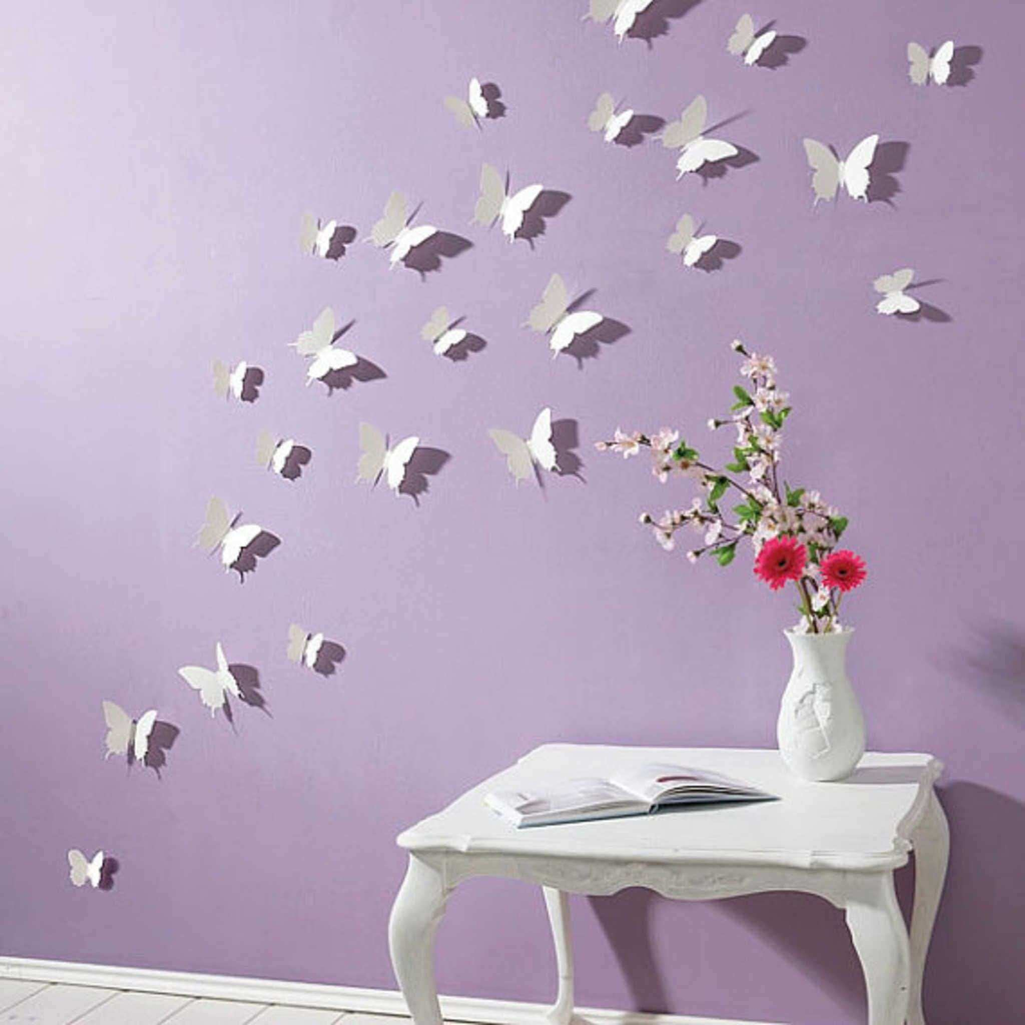 36 Lovely Purple butterfly Decorations