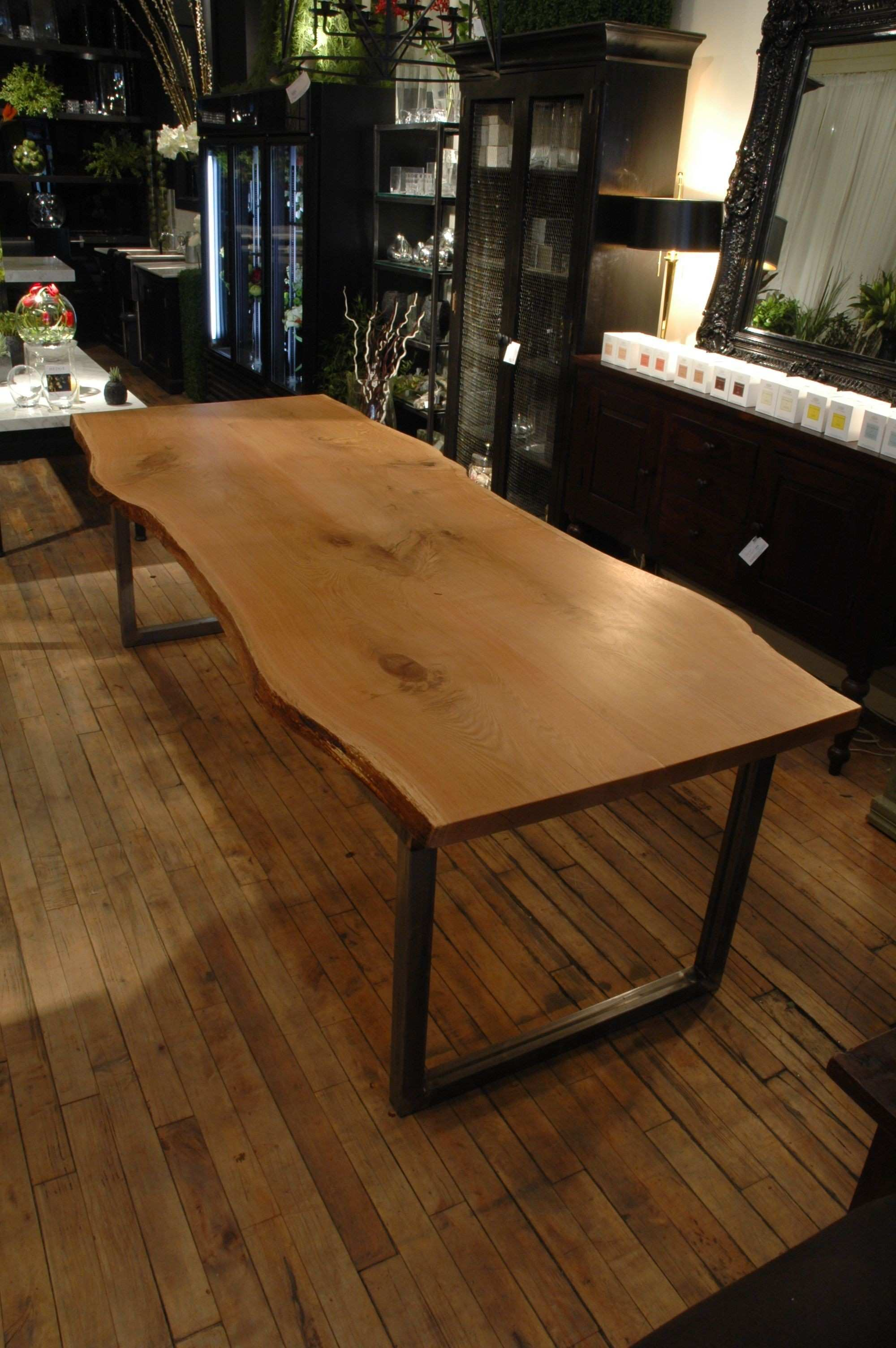 White Oak Slab Table Top created by Urban Tree Salvage Custom