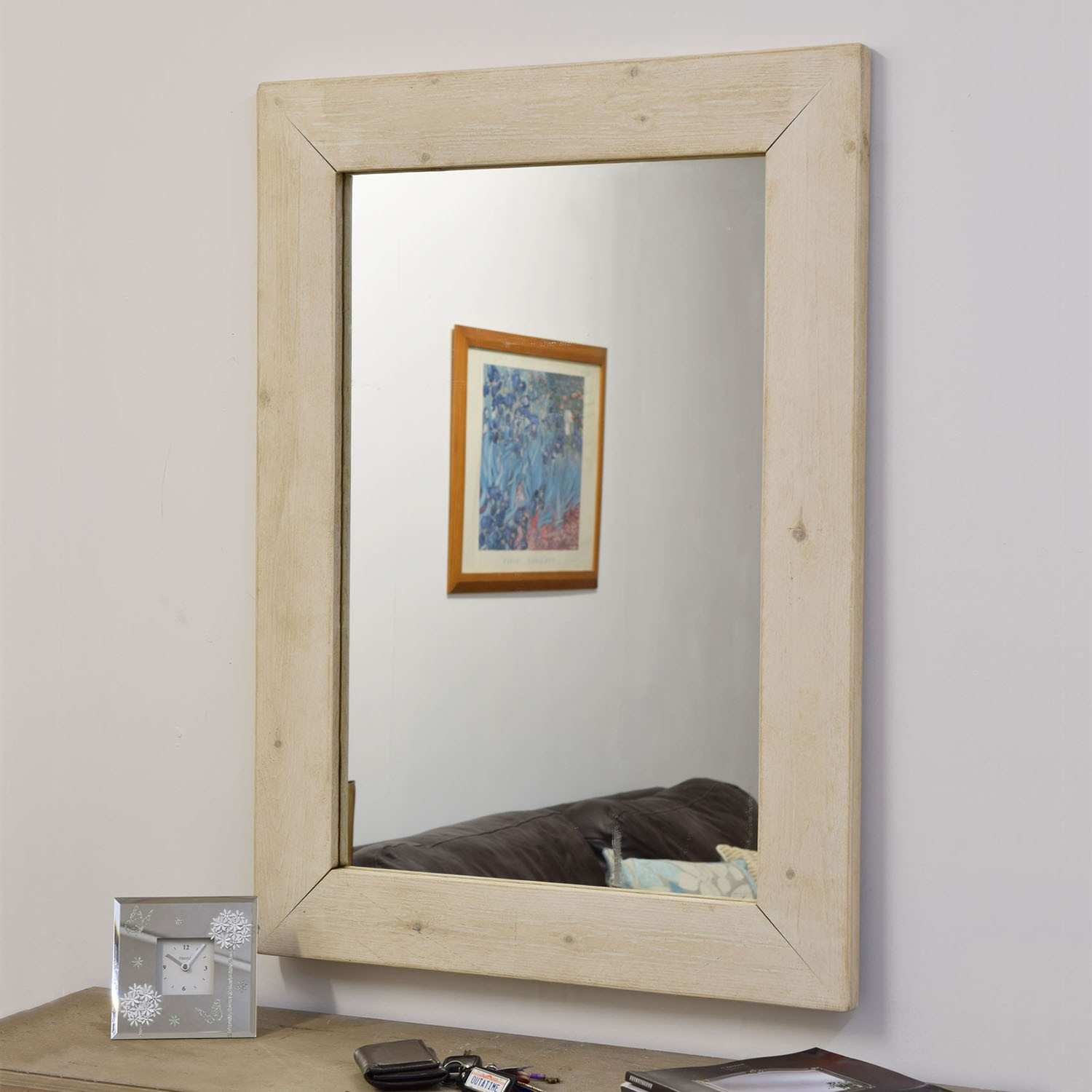 Milton Manor Farmhouse Lite 93x68cm Wall Mirror in Oak – Next Day