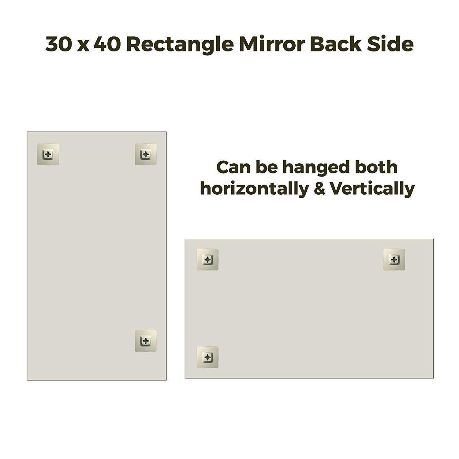 """Amazon Fab Glass and Mirror 30"""" x 40"""" Inch Rectangle Beveled"""