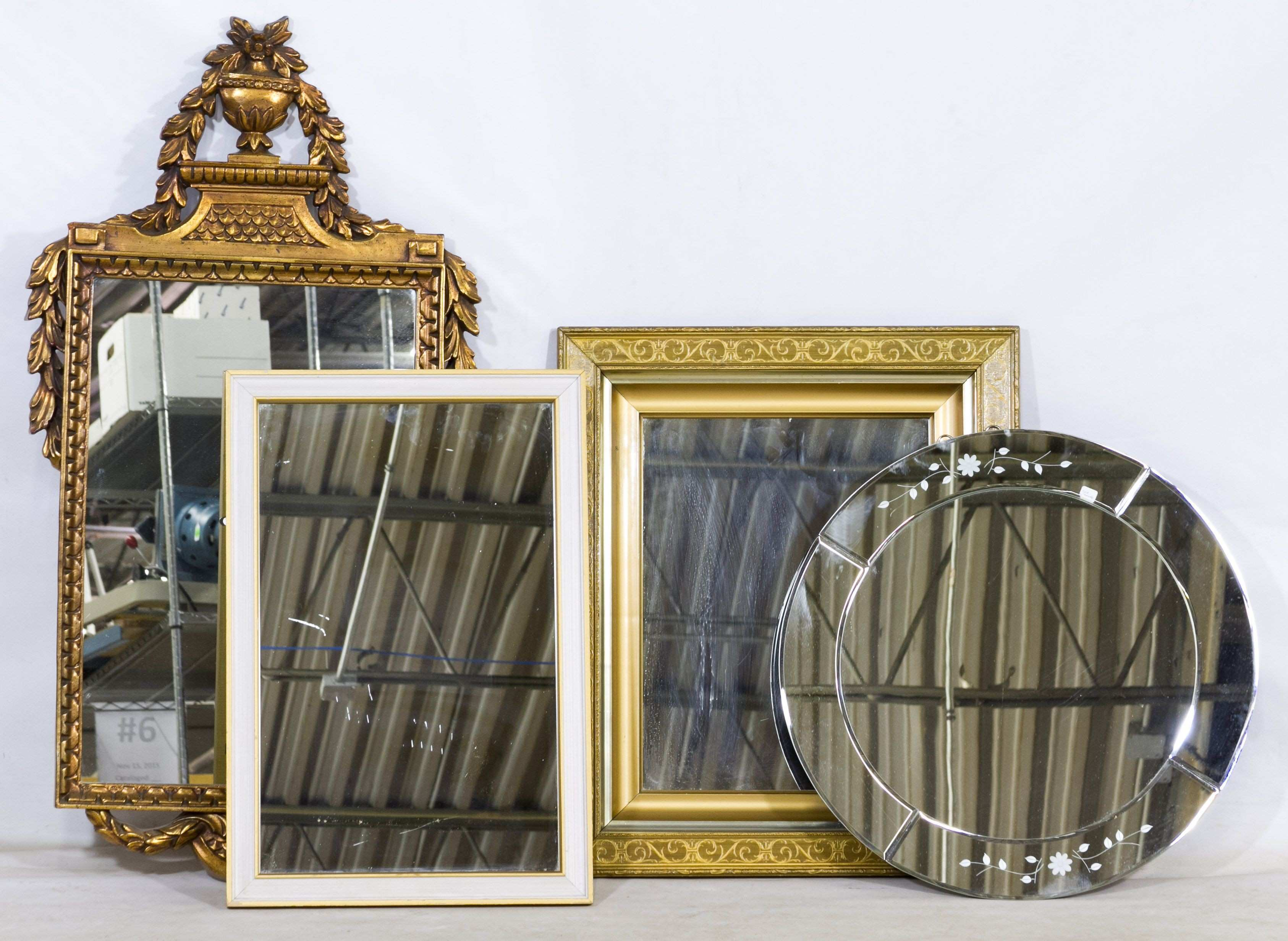 Lot 681 Wall Mirror Assortment Four items including two