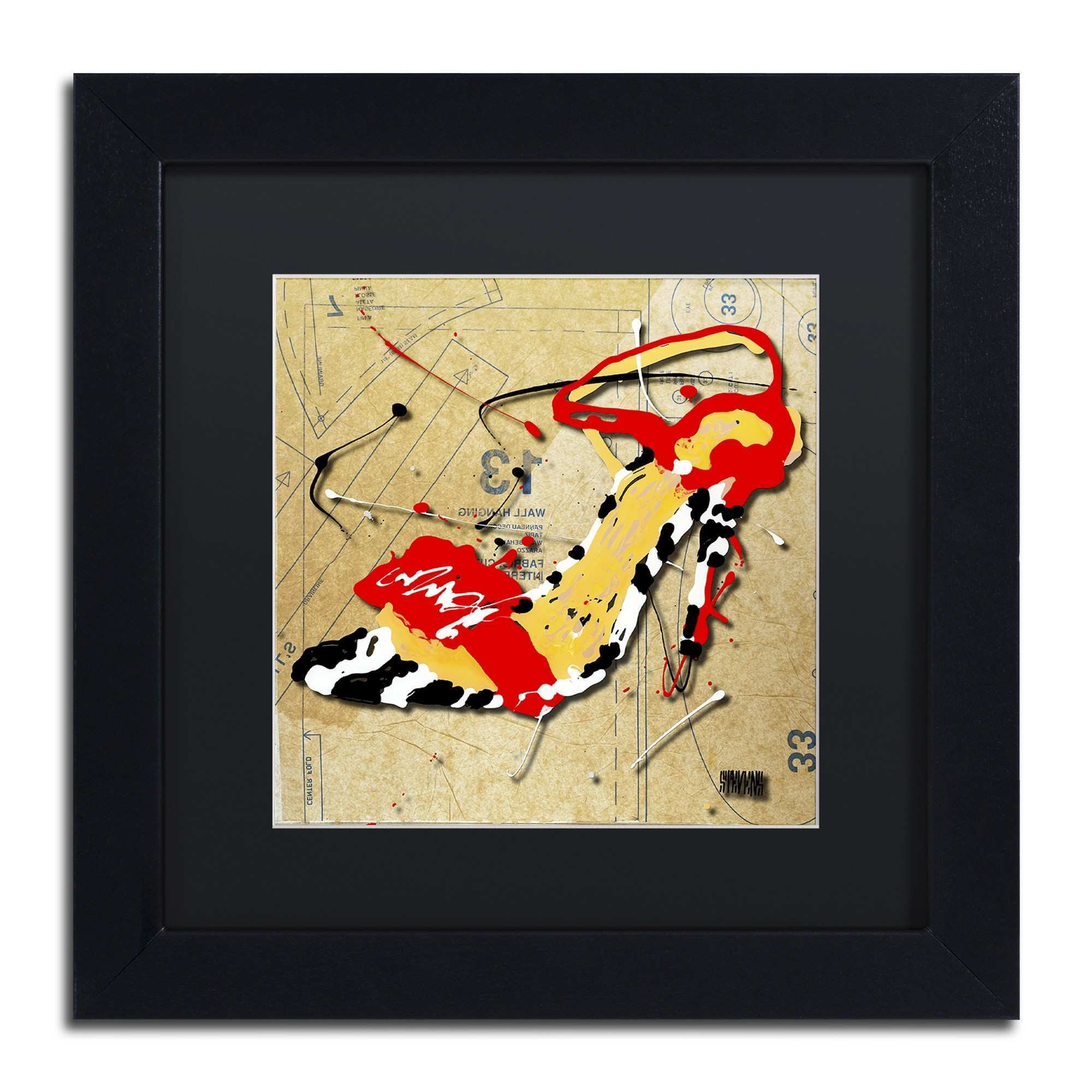 Nice Red And Black Wall Art ponent The Wall Art Decorations