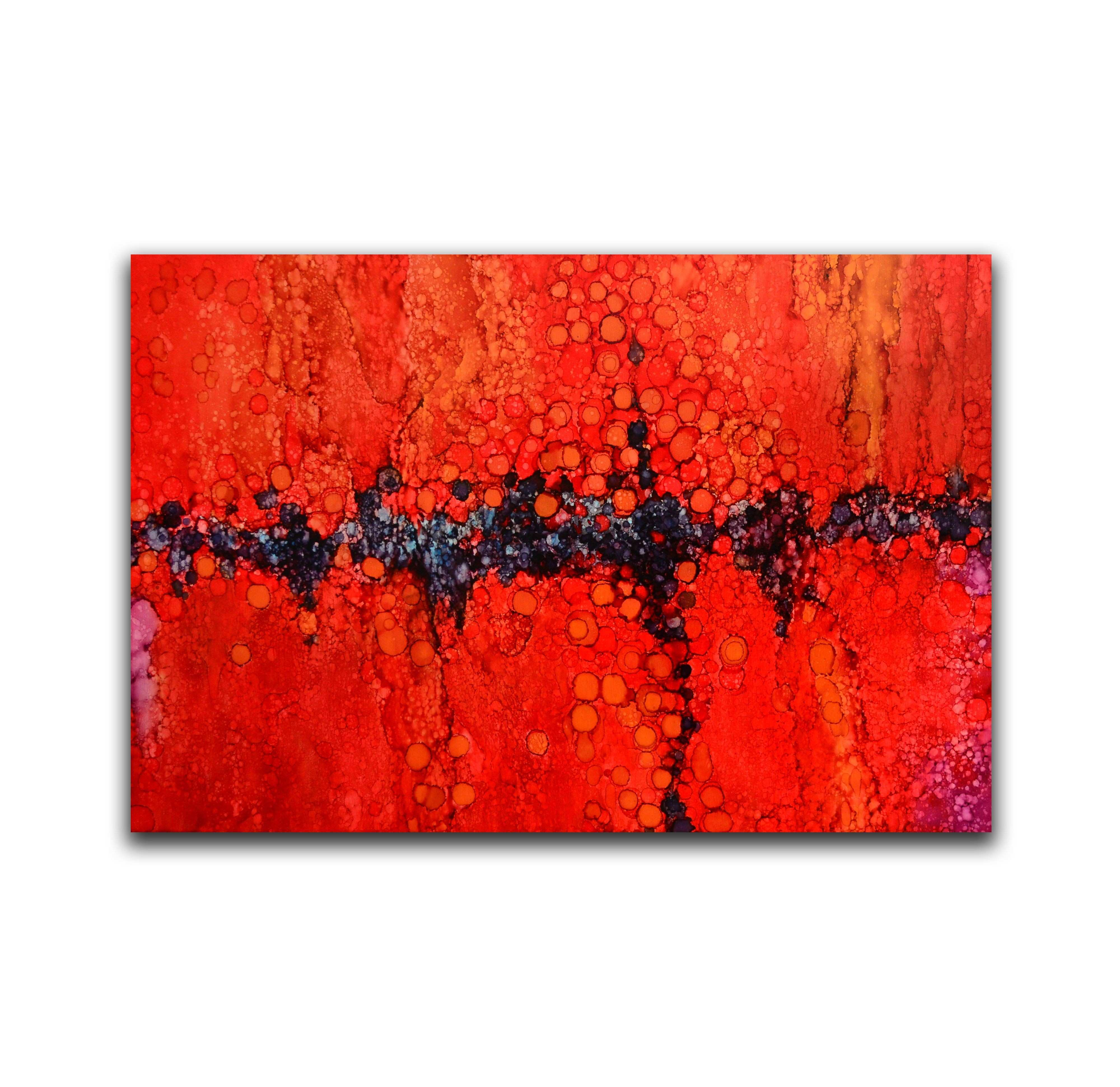 Abstract red and black wall art modern abstract decor art