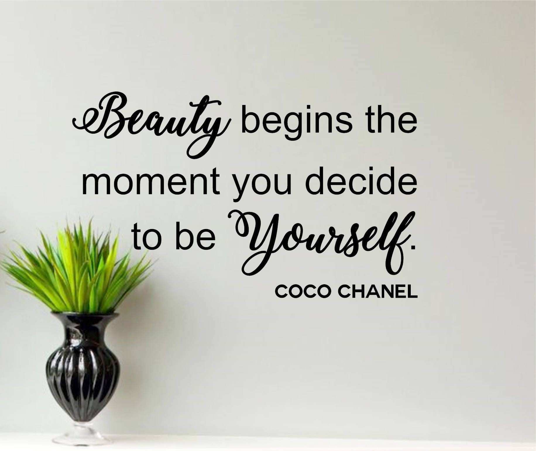 Coco Chanel Wall Decal Beauty Inspirational Quotes Salon Wall Decals