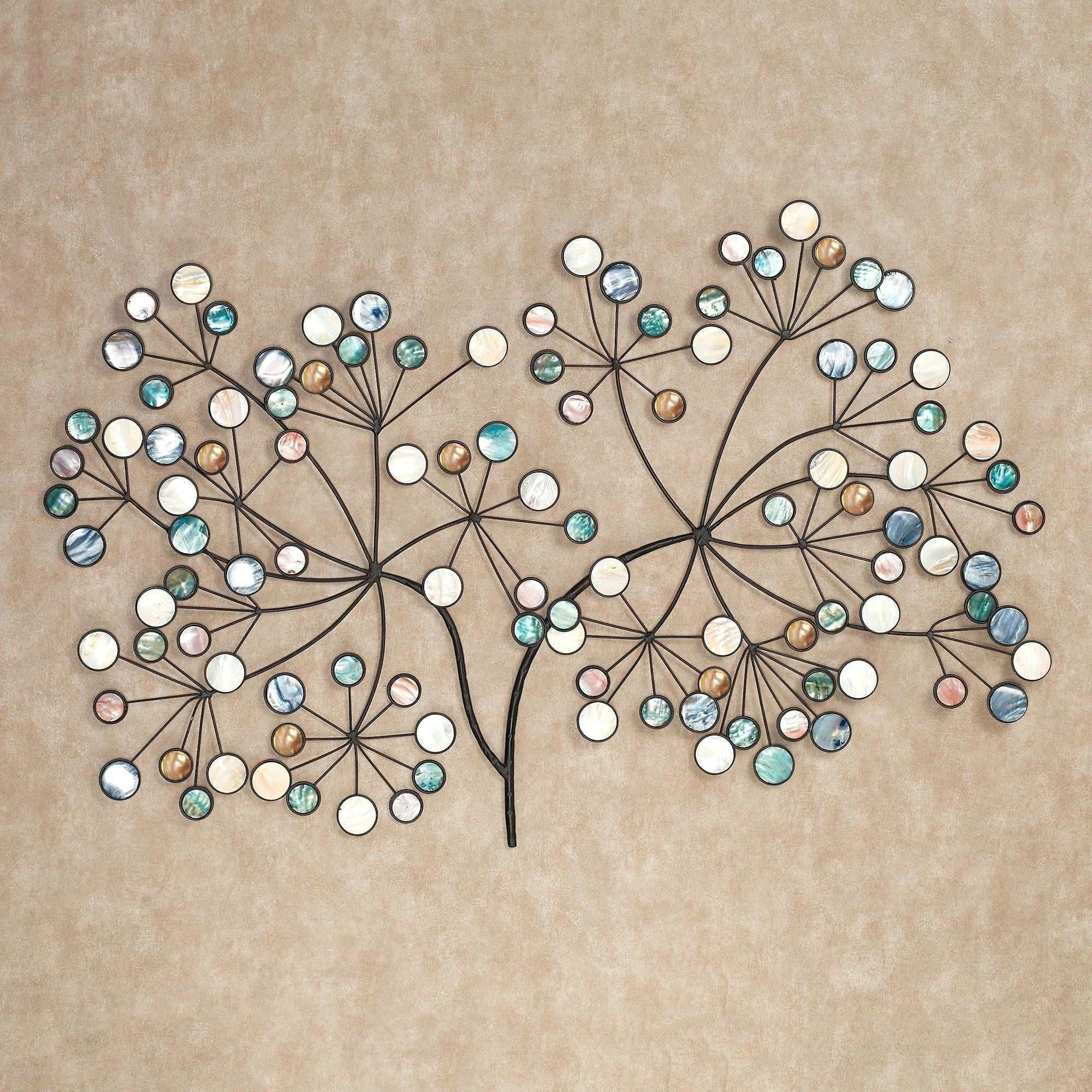Wall Decals Flowers and butterflies Luxury Metal Wall Art Panels