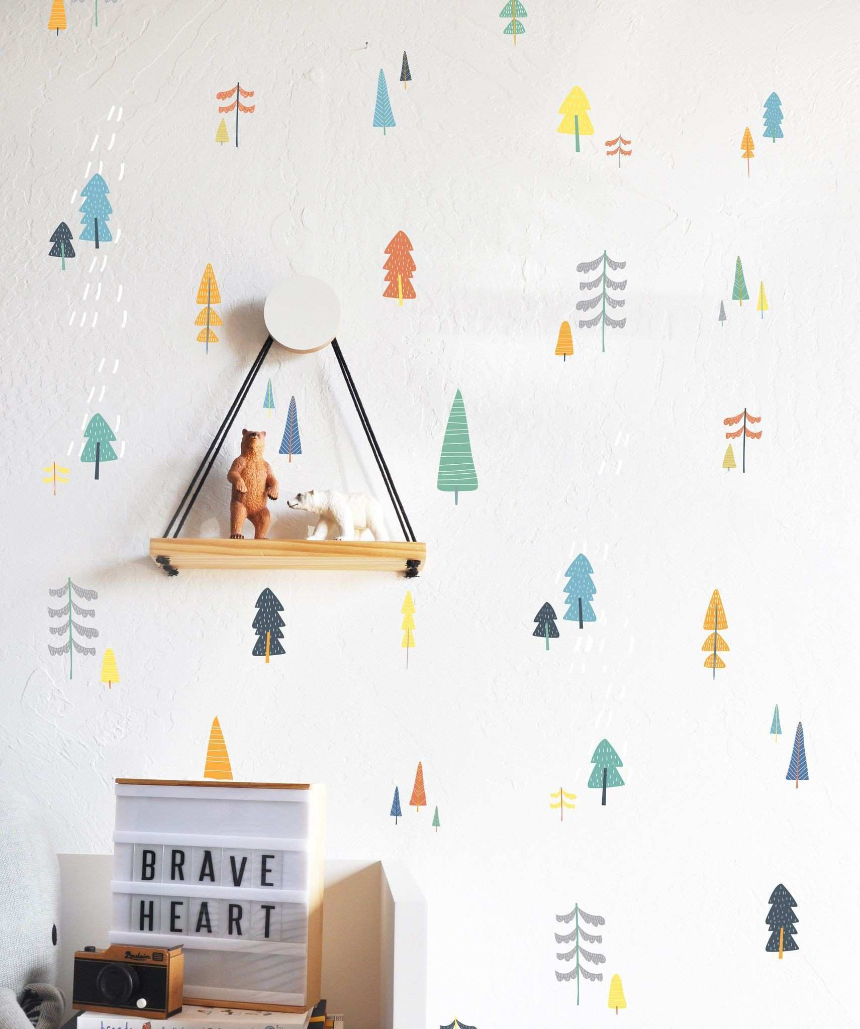 Hand Drawn Forest pilation Secondary WALL DECAL