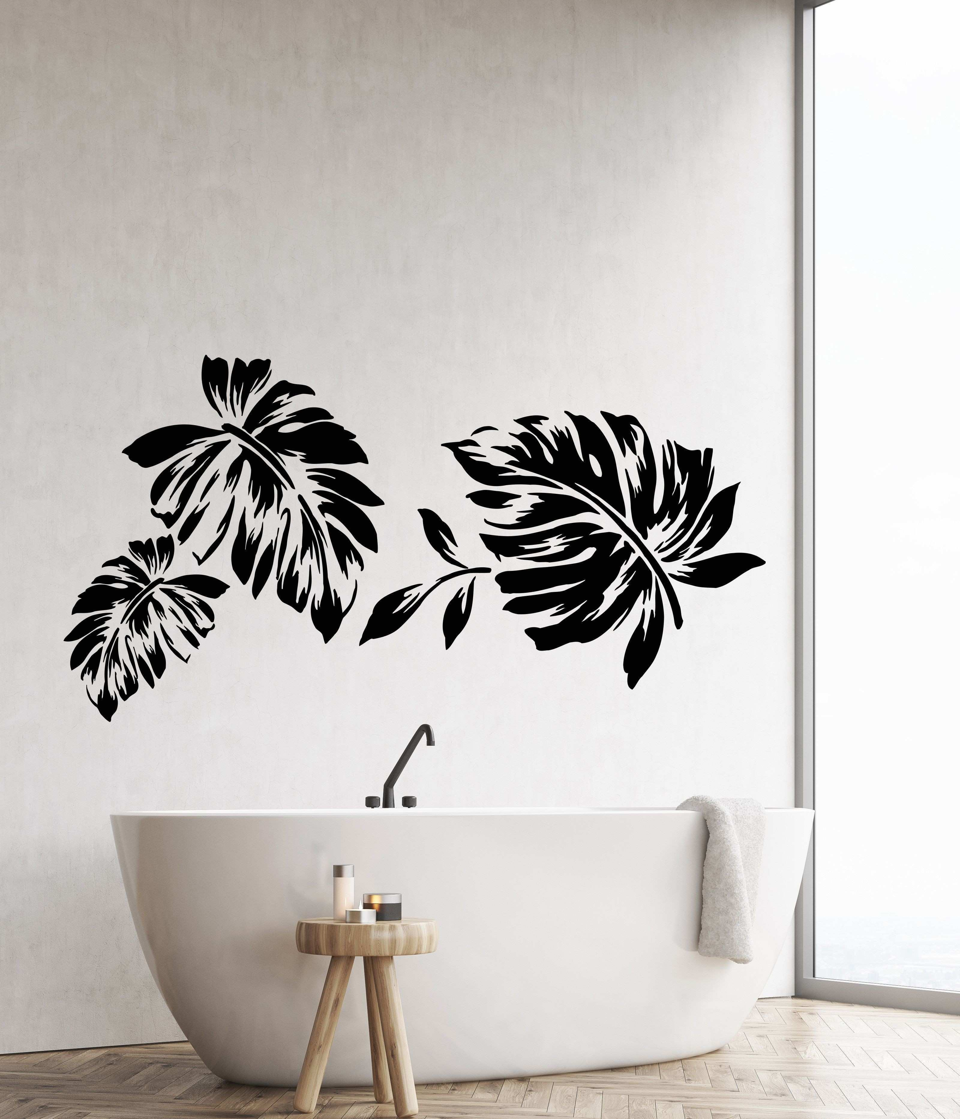 Vinyl Wall Decal Leaves Foliage Nature Style Room Decor Stickers