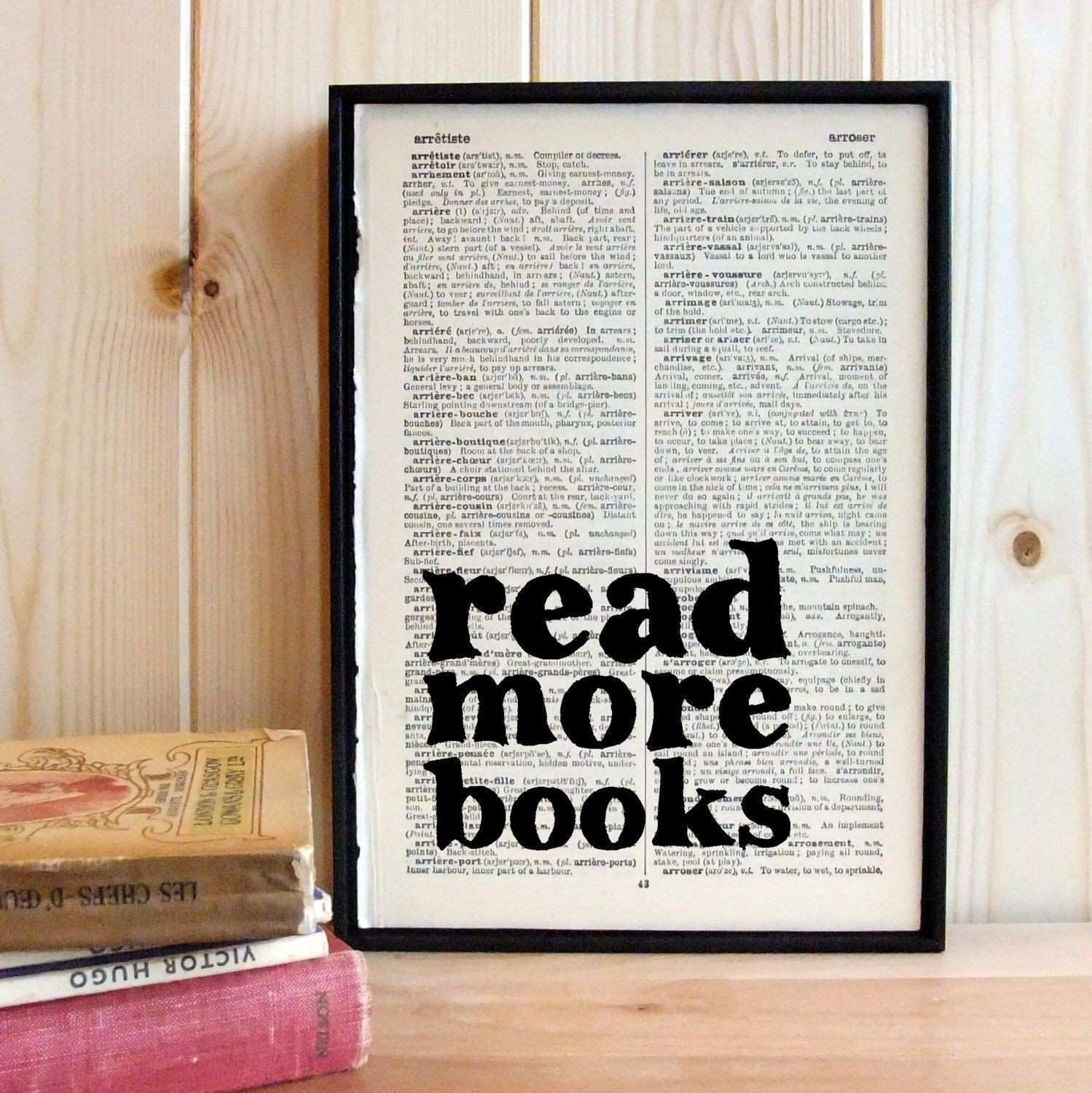 Book Lover Read More Books Quote Book Lover Gift Framed Quotes