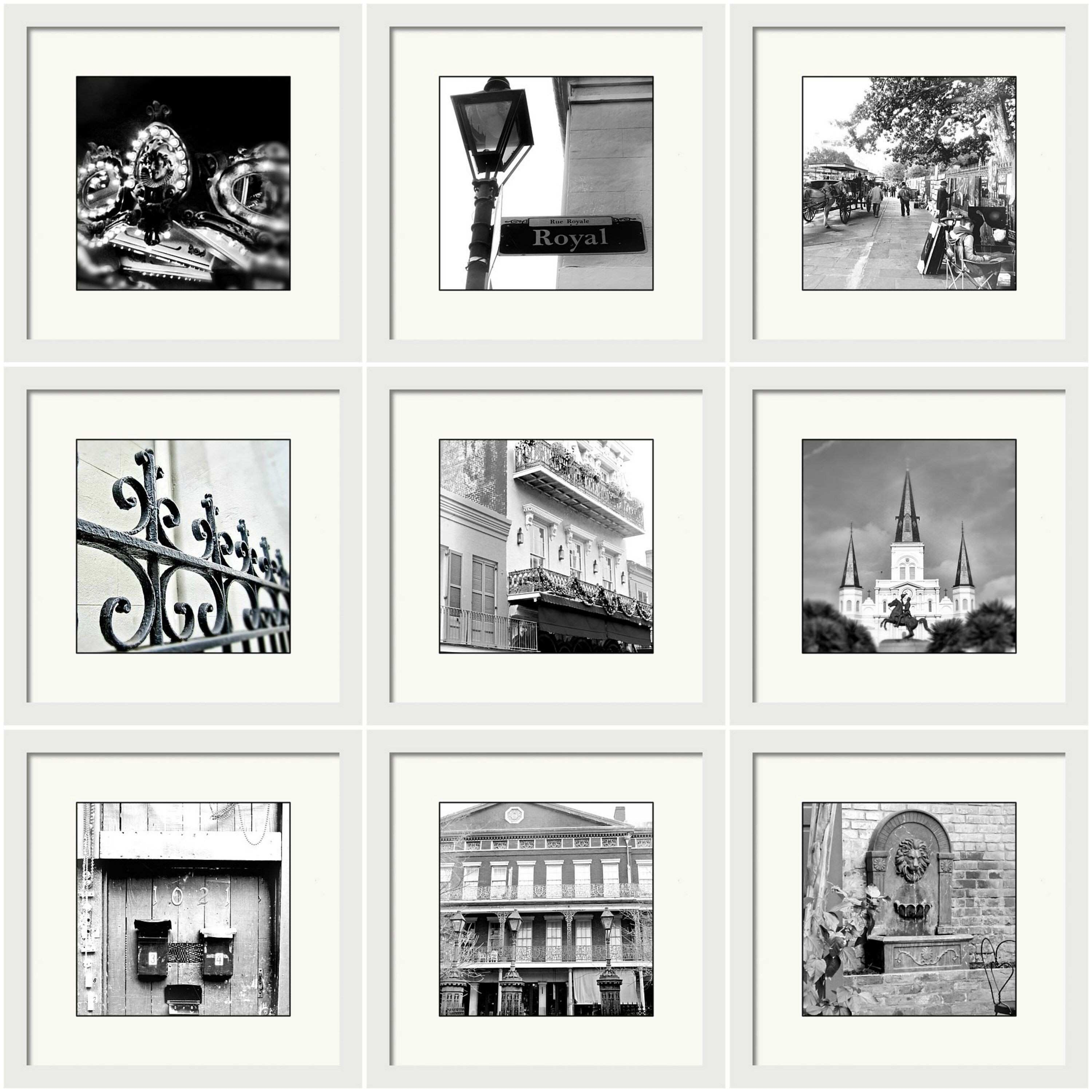 New Orleans Print Set Gallery Wall Vintage Black and White