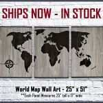 Rustic Wood And Metal Wall Art New World Map Wall Art Wood Wall Art Home And Business Wall Decor Of Rustic Wood And Metal Wall Art