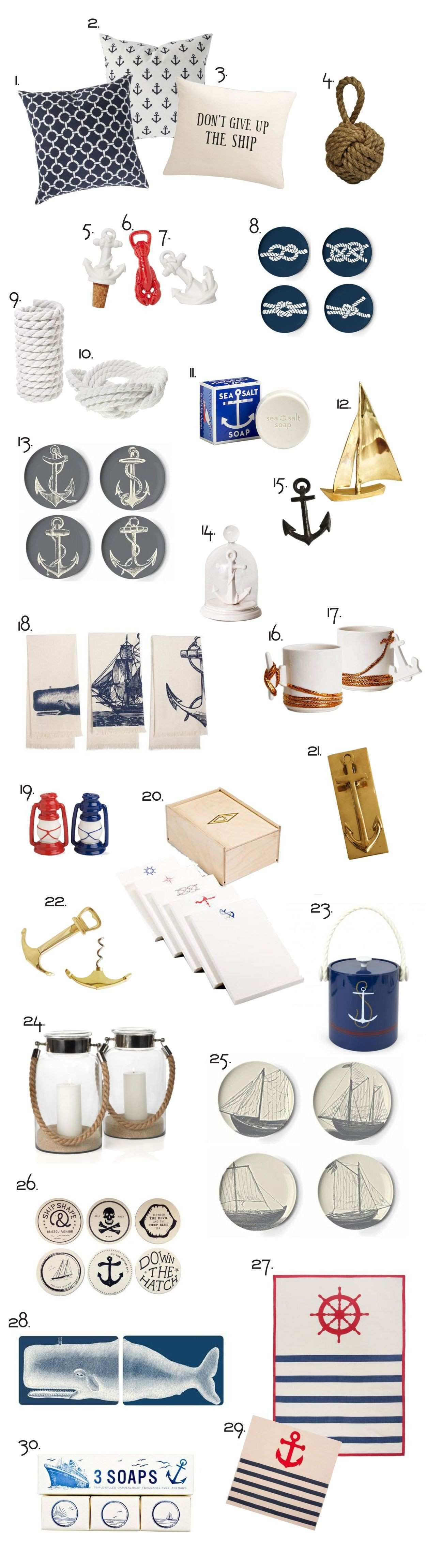 Perfect Nautical Decor It s about more than golfing boating and