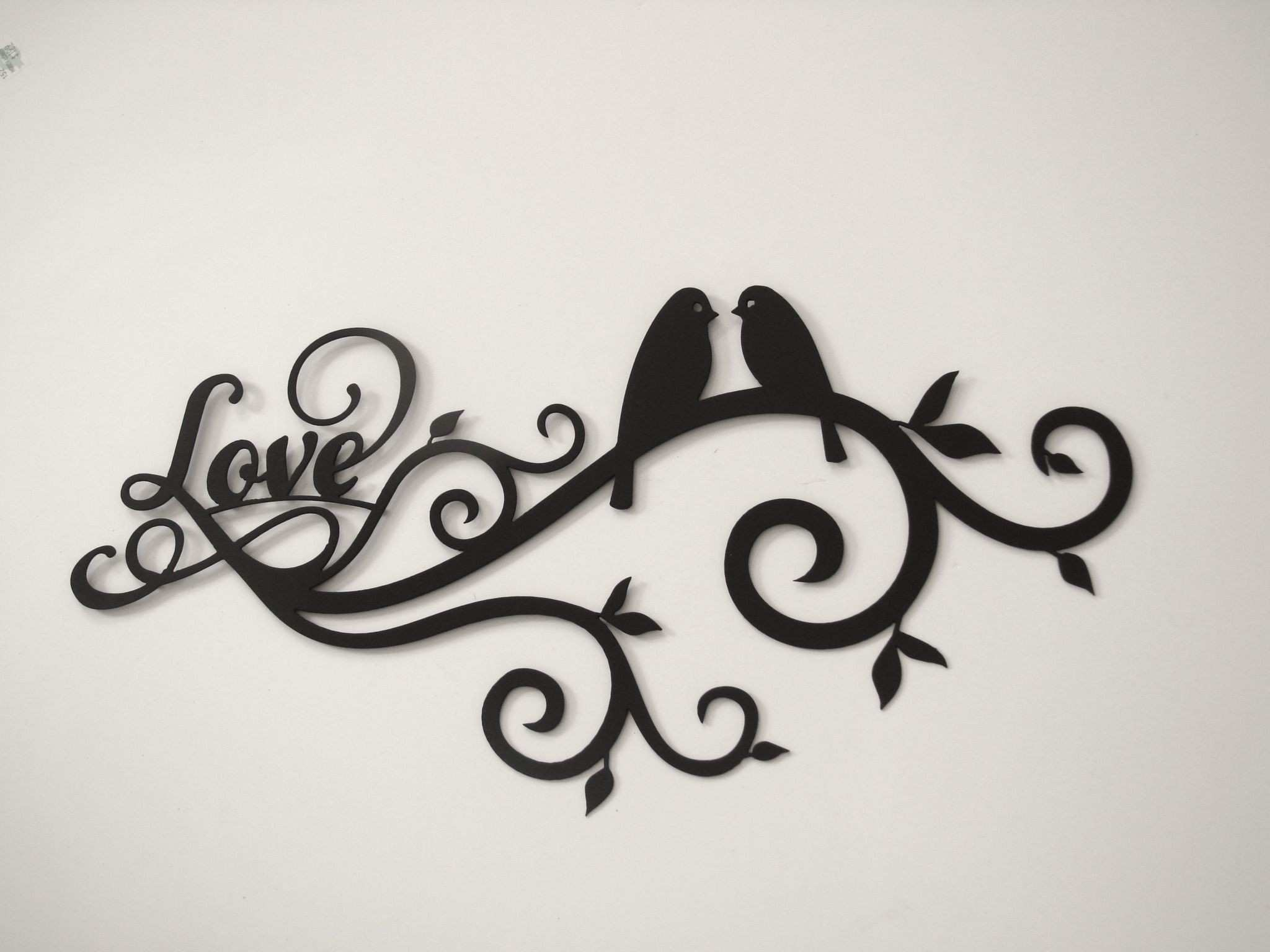 Love Bird Scroll 16 Gauge Metal Wall Sculpture Pinterest