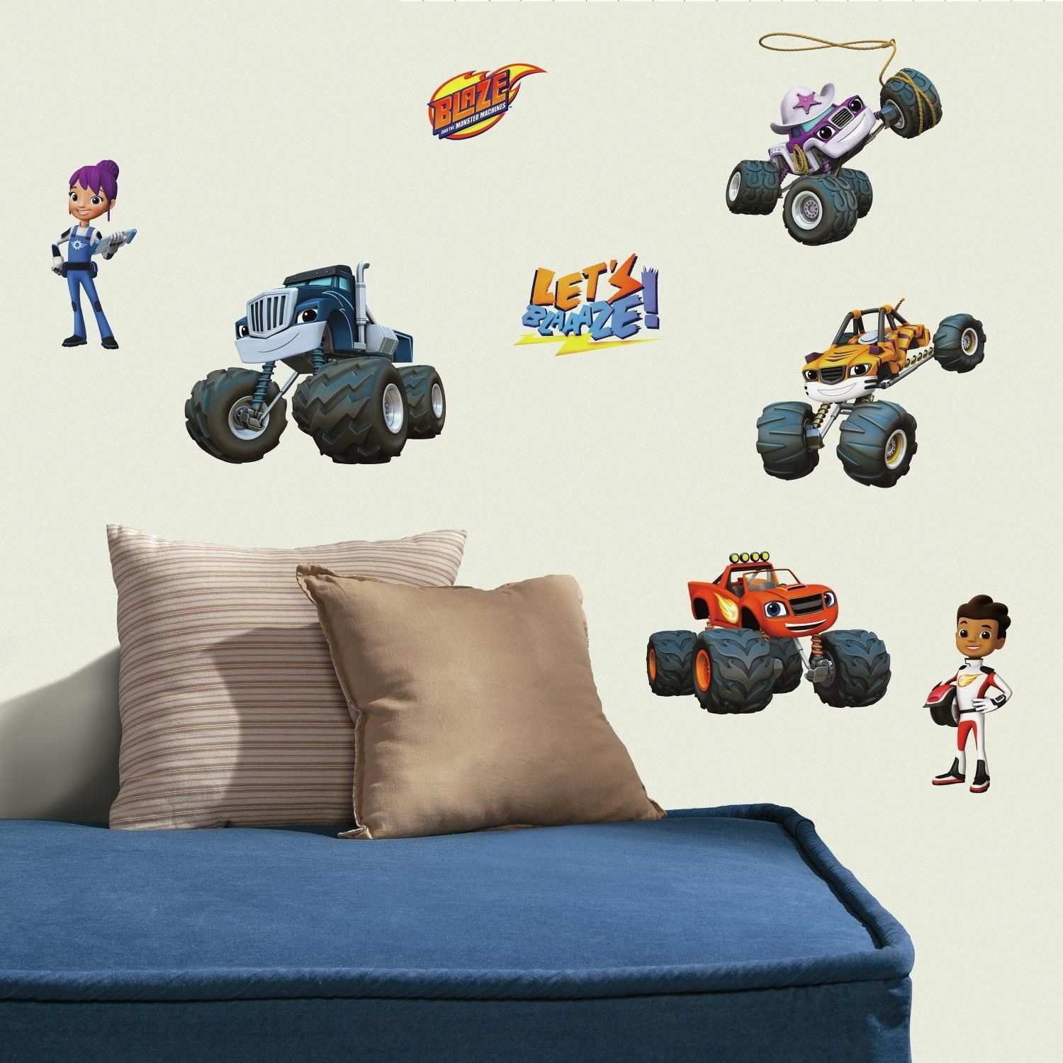 Blaze and The Monster Machines Peel and Stick Wall Decal