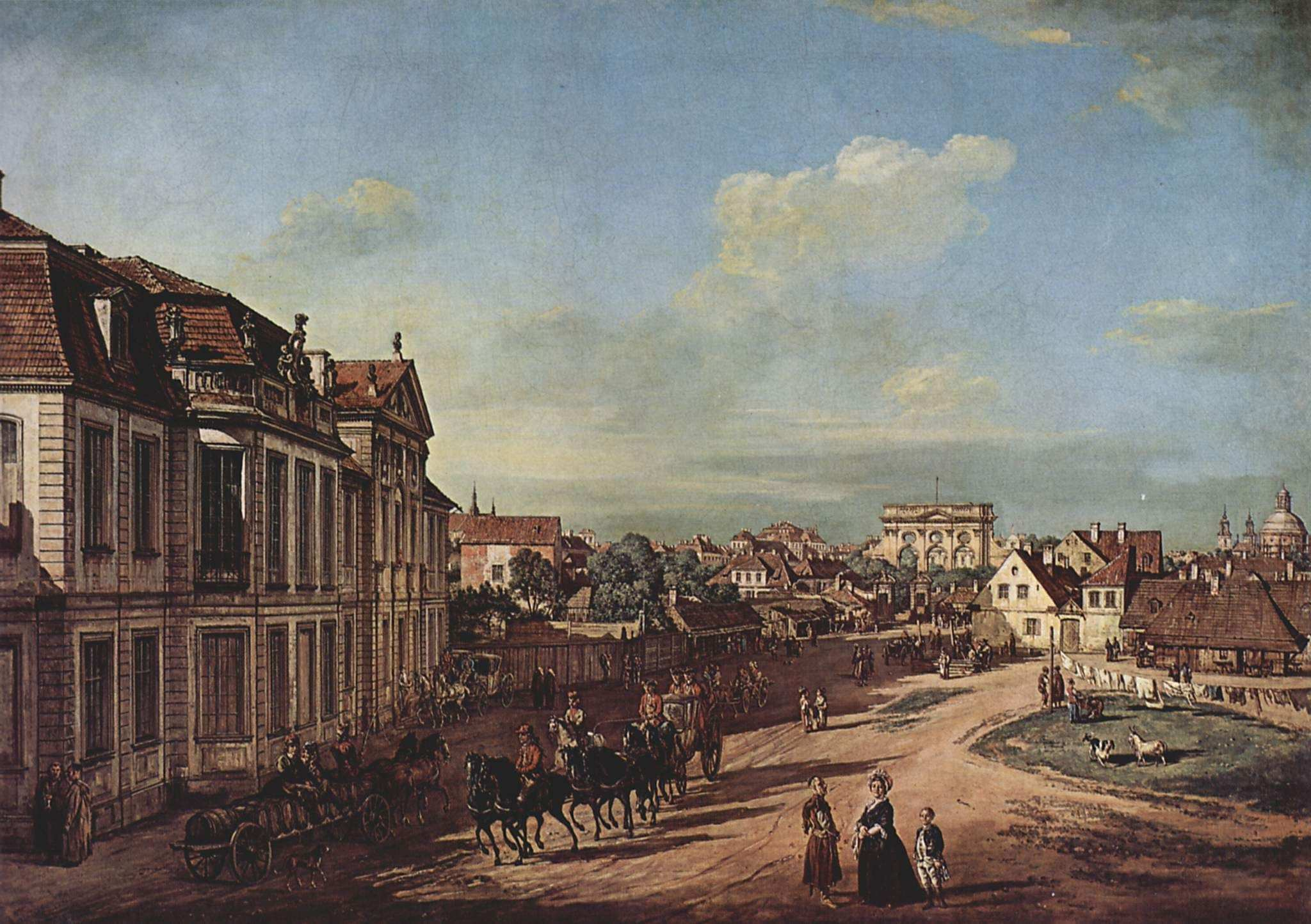 View of the Square of Zelazna Brama Warsaw Bernardo Bellotto