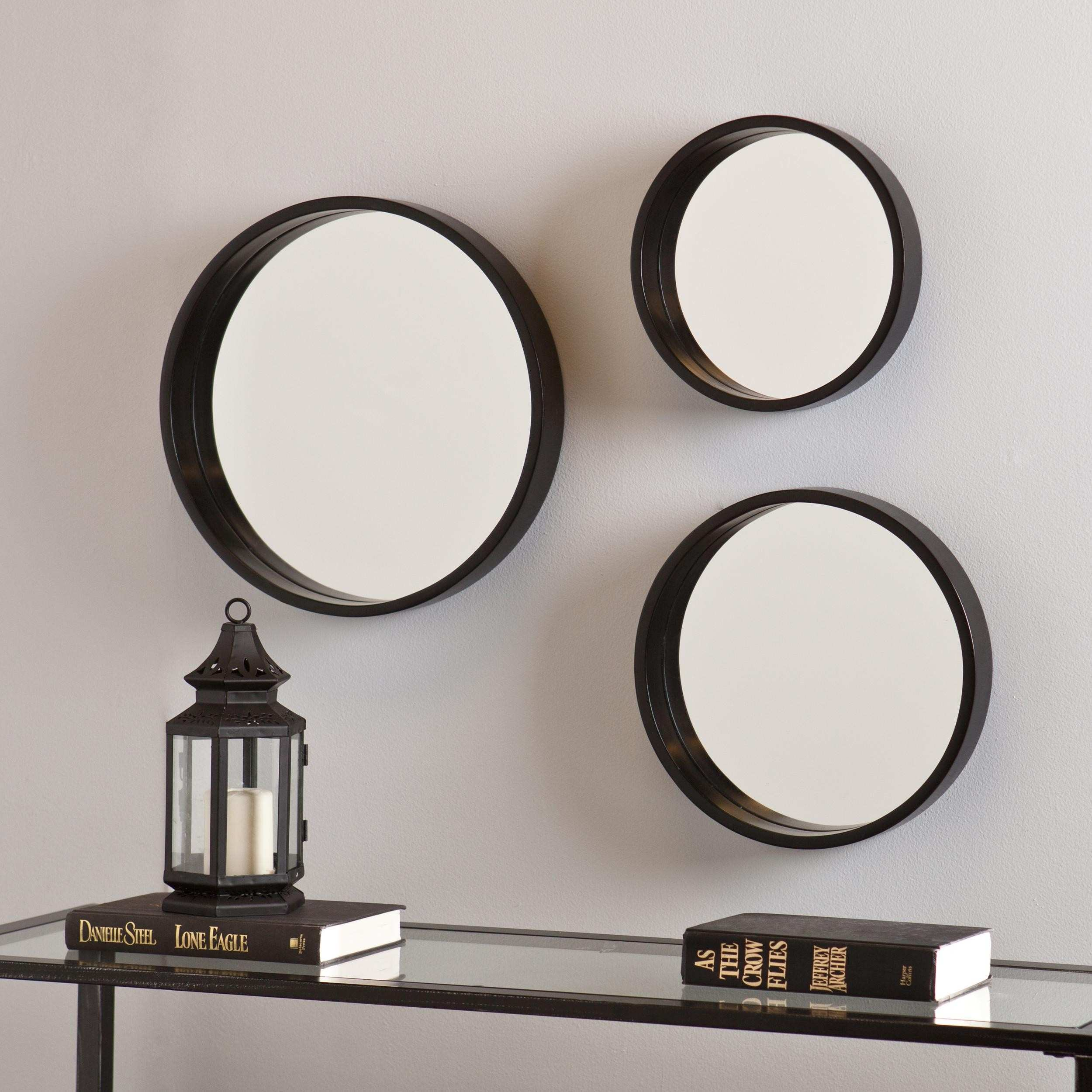 Artistic Idea to Decorate Home with 3 Piece Wall Mirror Set