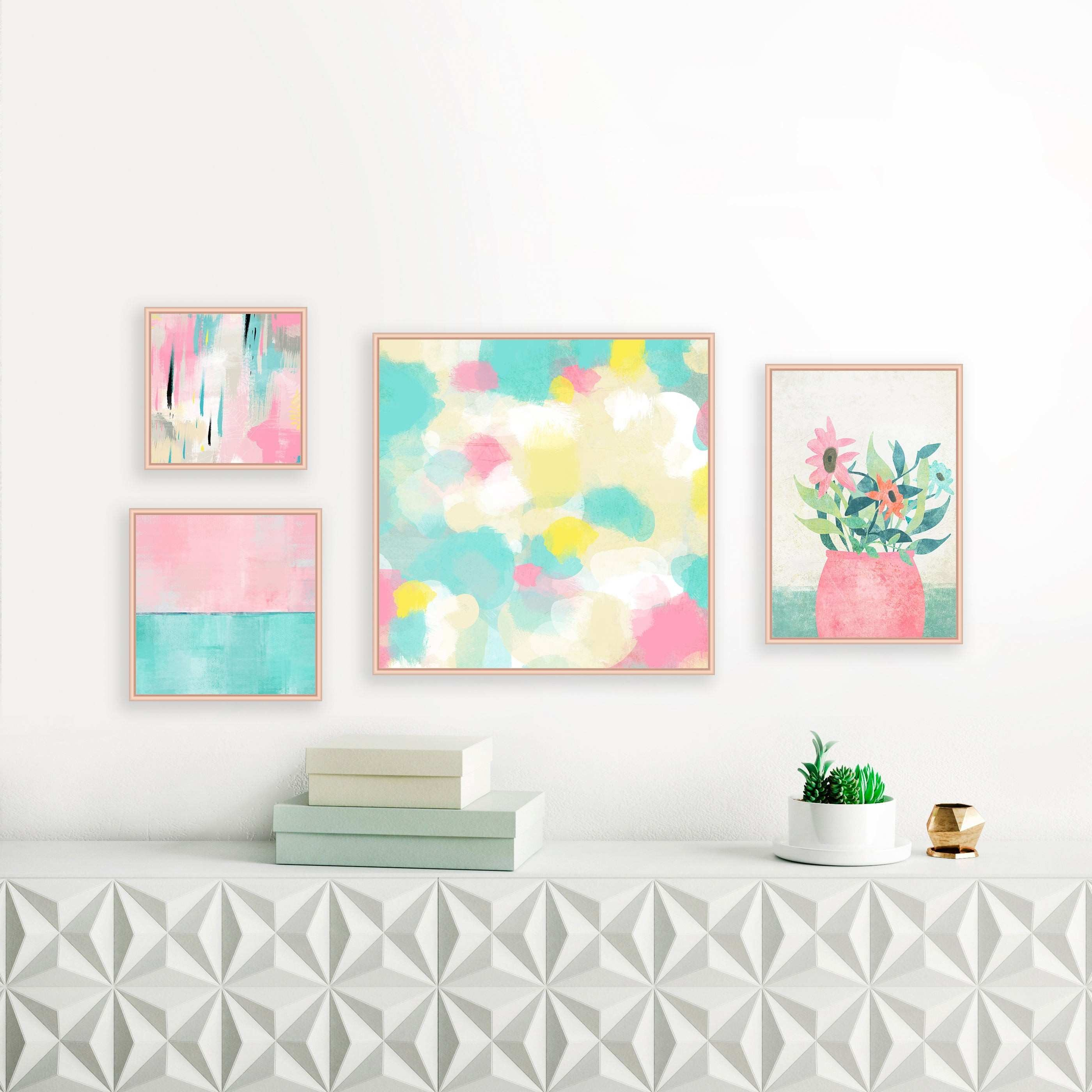 15 Best Collection of Pastel Abstract Wall Art