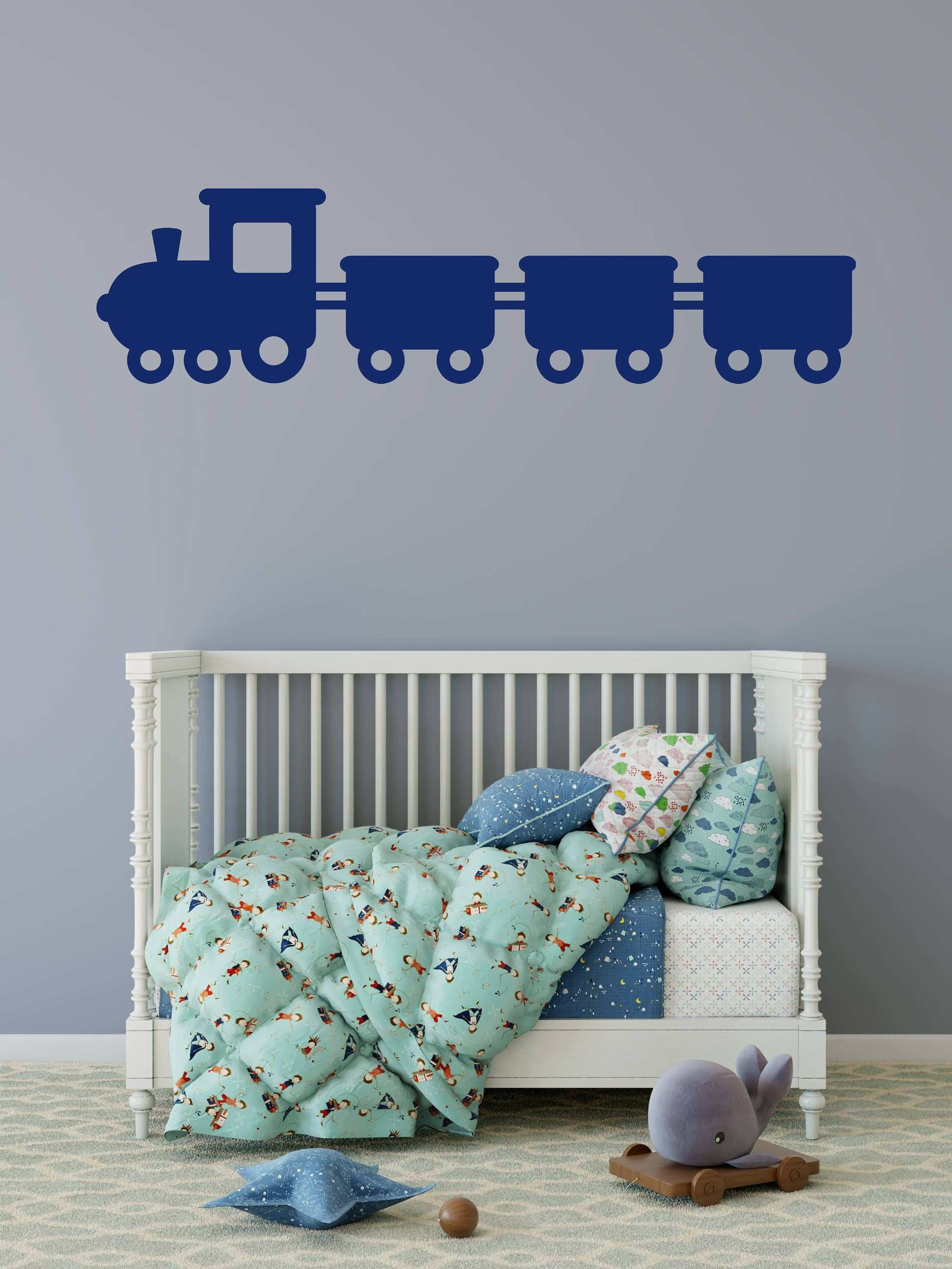Train Wall Decal Train Decals Kids Room Decor Train Decor
